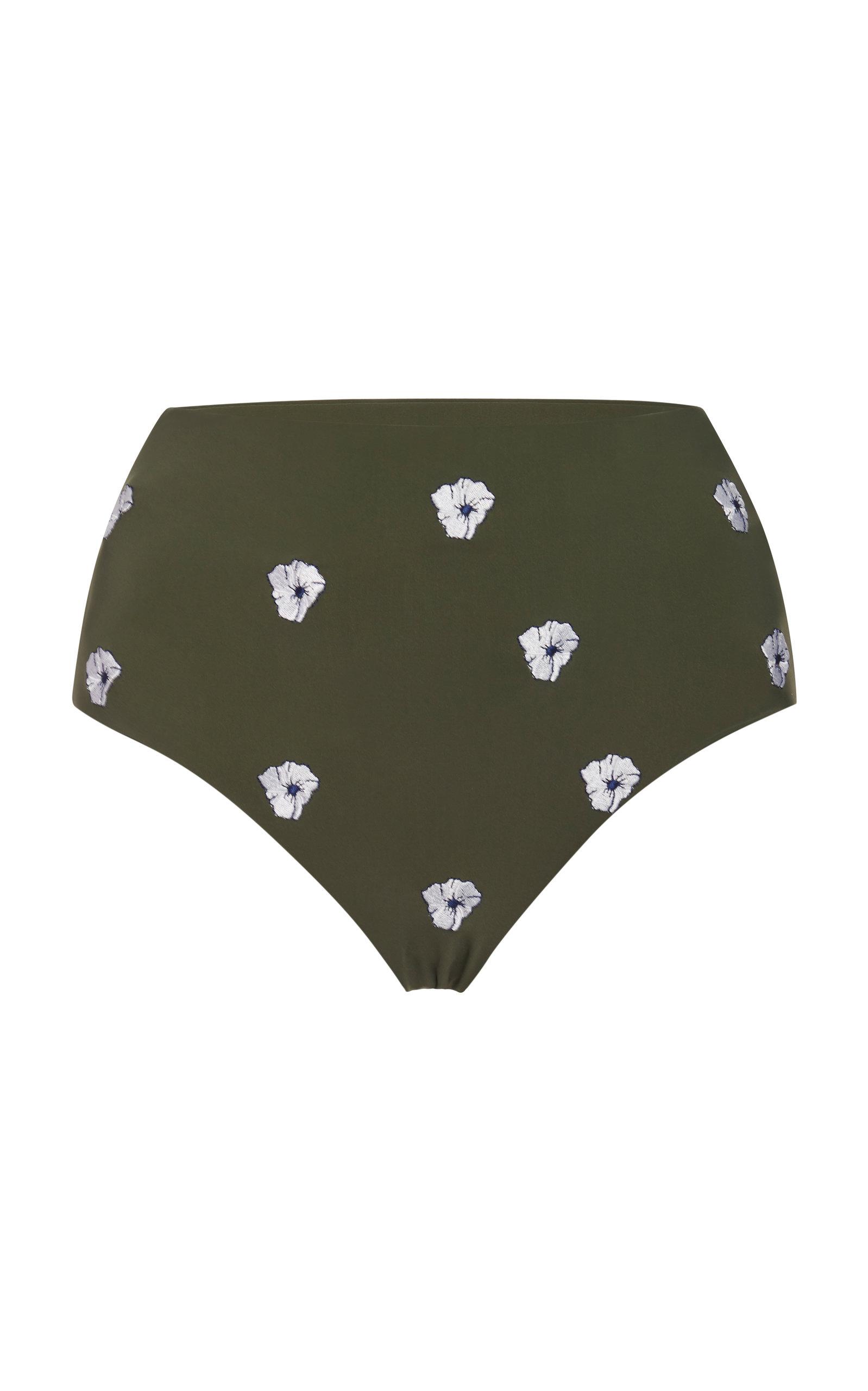 ea5bc4bfbde Embroidered High-Rise Bikini Bottom