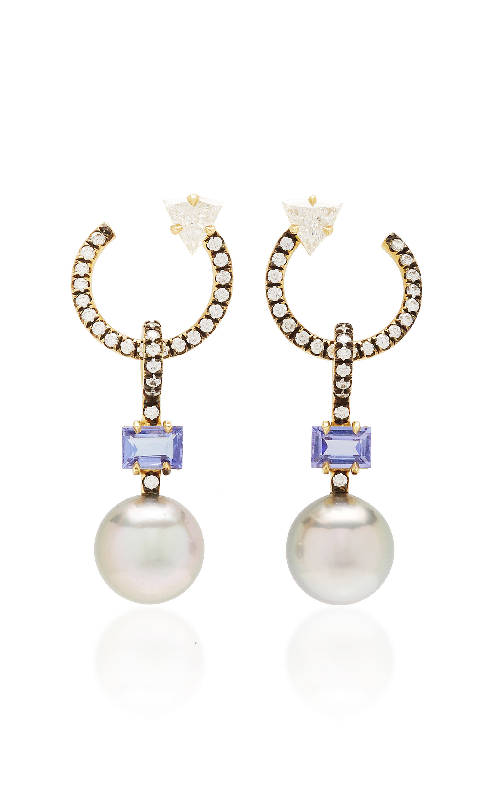 4bd4561dd2f3e 18k gold pave hoops with tahitian pearl drops