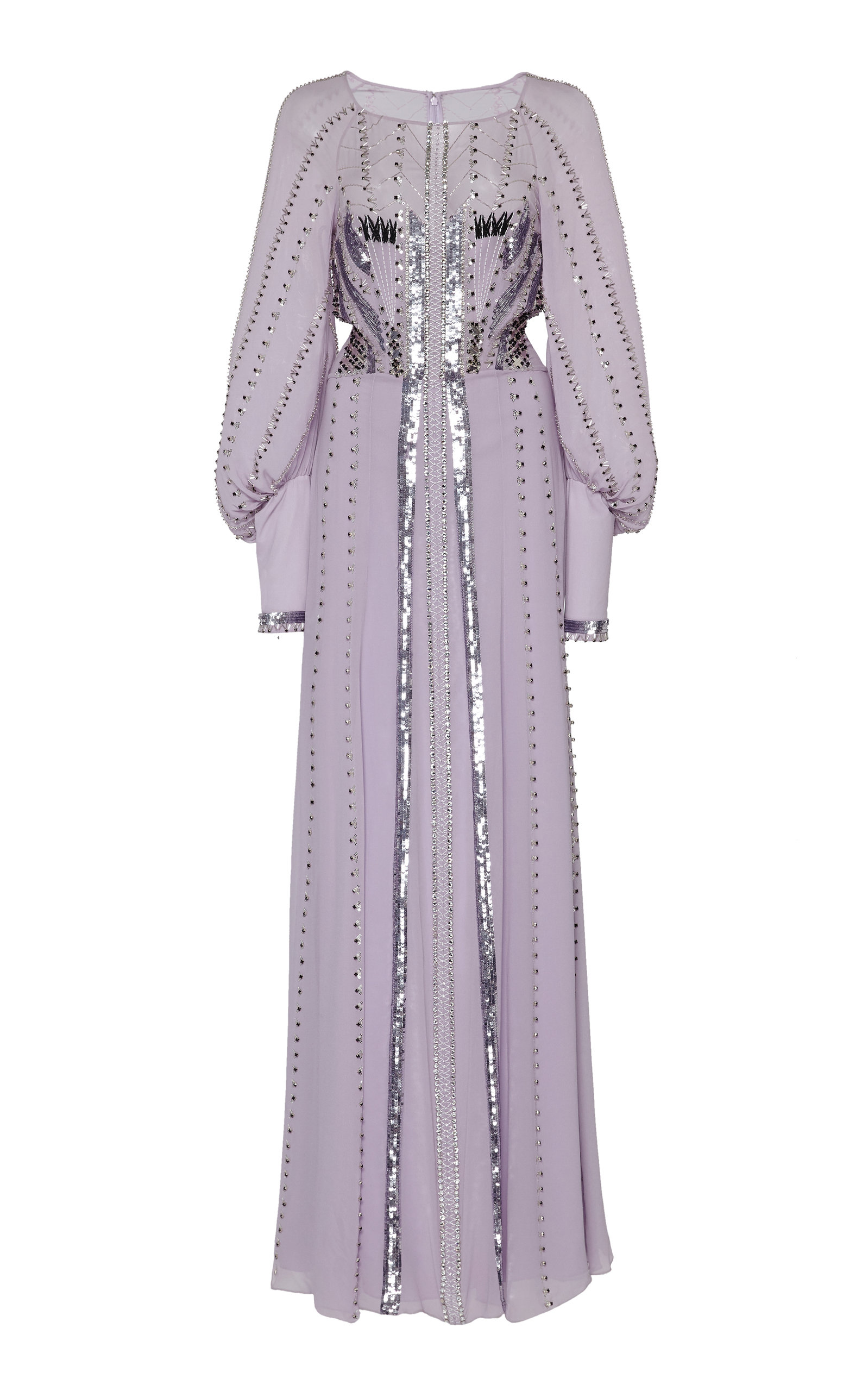 Temperley London Dresses Queenie Studded Sequin-Embellished Silk Gown