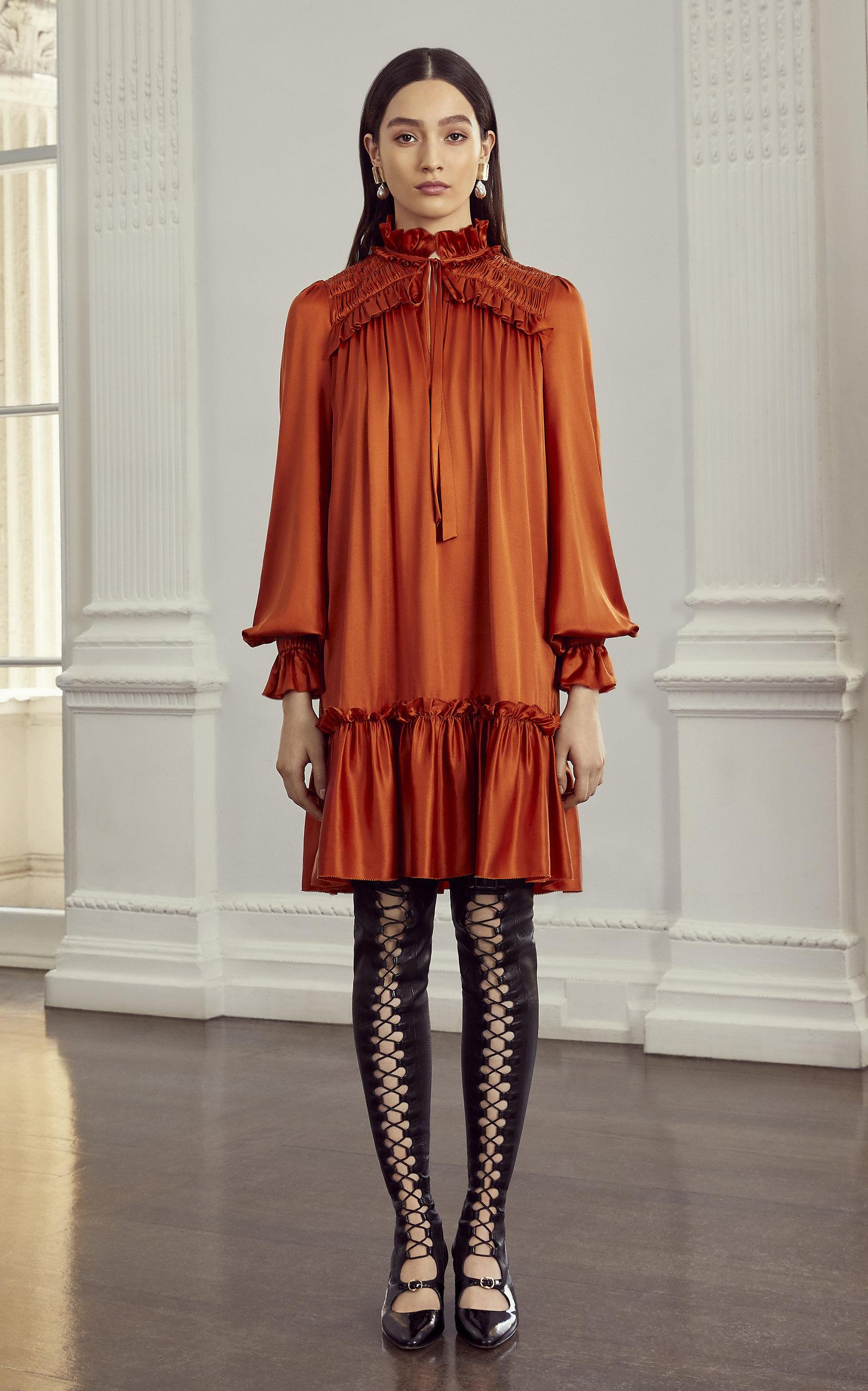 28693c9e6d Birdie Ruffled Satin-Effect Mini Dress