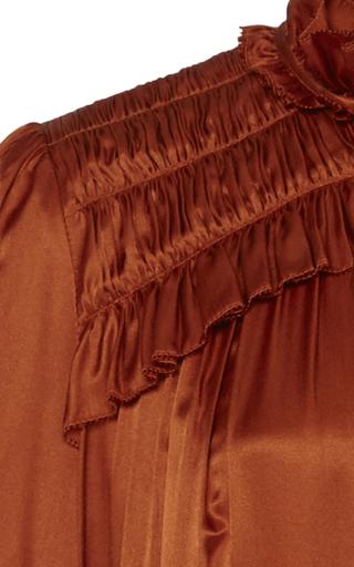 e635d2885f Birdie Ruffled Satin-Effect Mini Dress by Temperley London | Moda ...