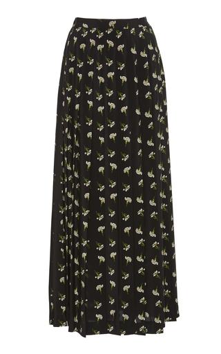 838aabb465 TRUNKSHOW. Giambattista Valli. Pleated Floral-Print Silk-Georgette Maxi  Skirt