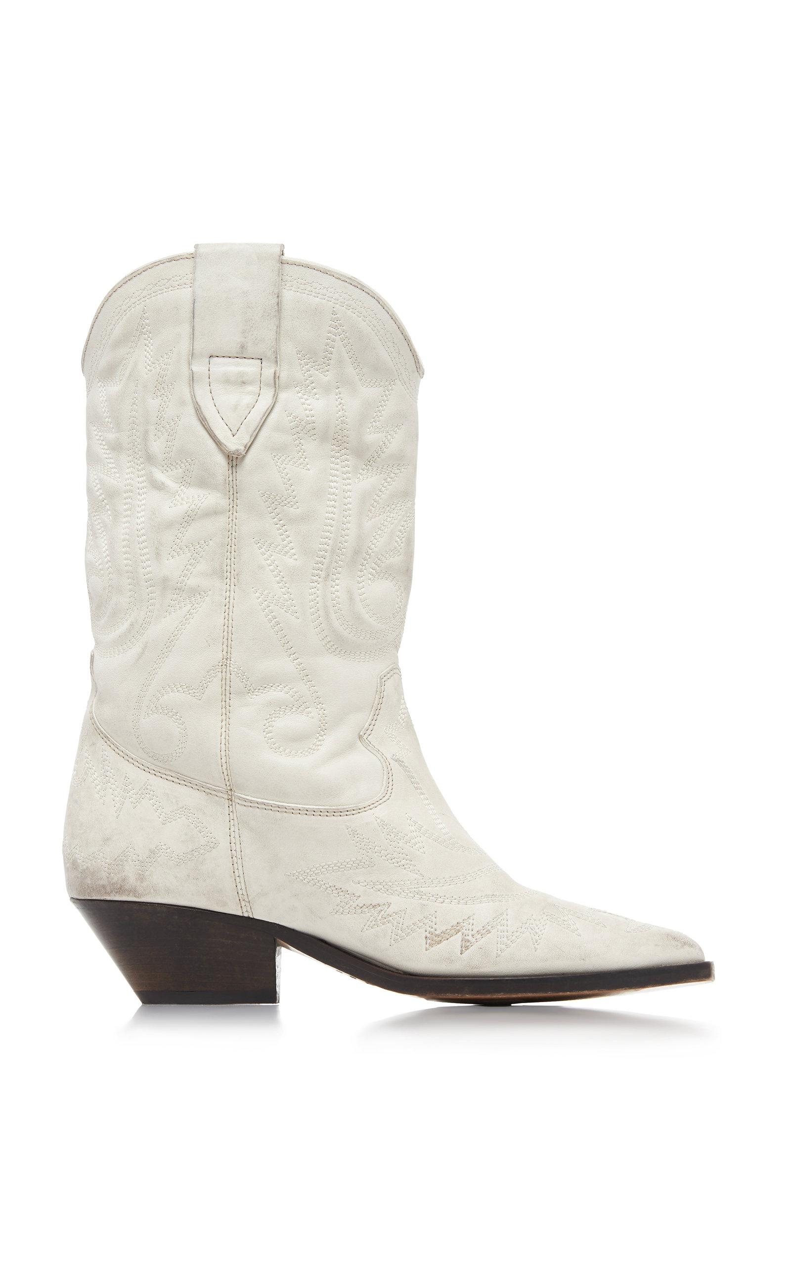vente officielle plus grand choix de site officiel Duerto Leather Cowboy Boots in White