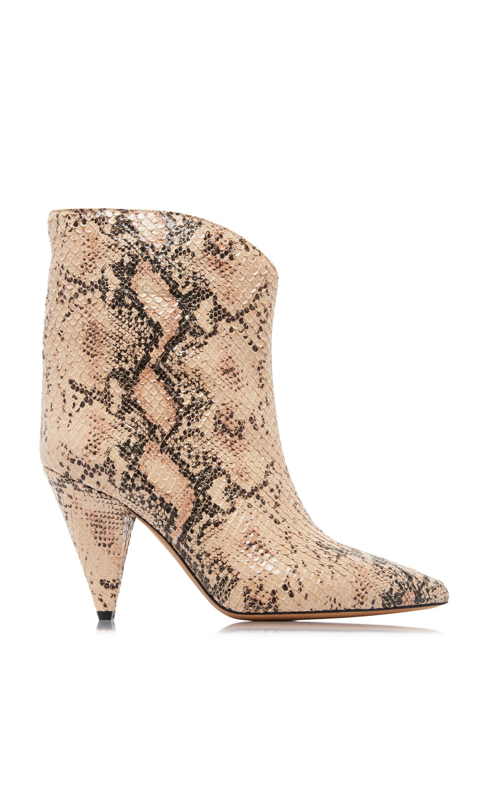 9d75c813c16c Leinne Snake-Embossed Boots by Isabel Marant | Moda Operandi