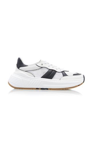 Bottega Veneta Sneakers TWO-TONE MESH, LEATHER AND RUBBER SNEAKERS