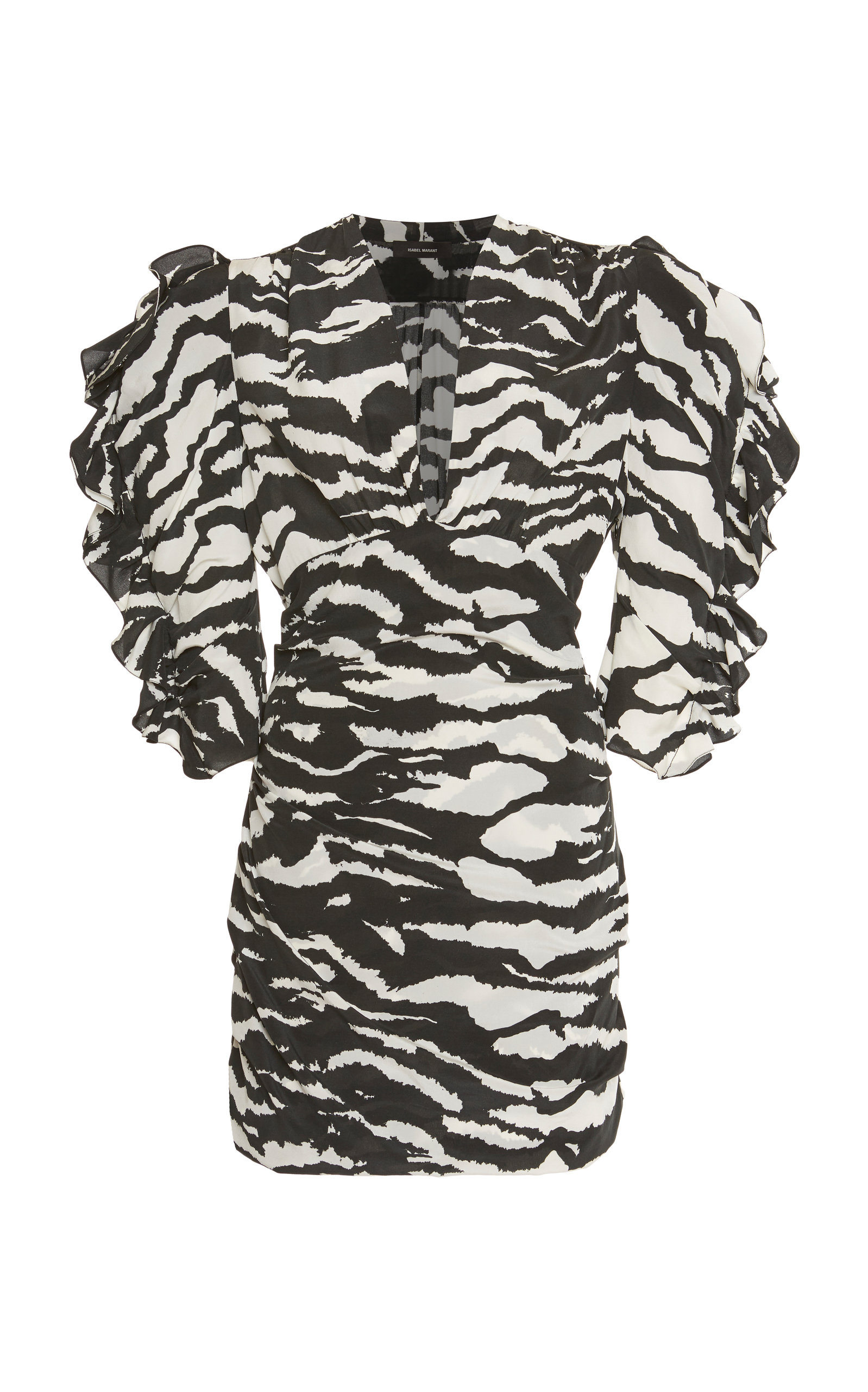 Isabel Marant Dress FARAH ZEBRA-PRINT STRETCH-SILK MINI DRESS