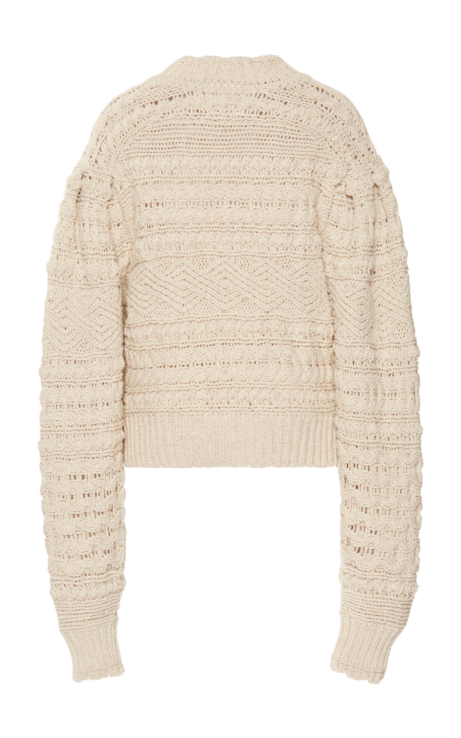 c626a2d49e Mao Cable Cotton-Linen Blend Sweater