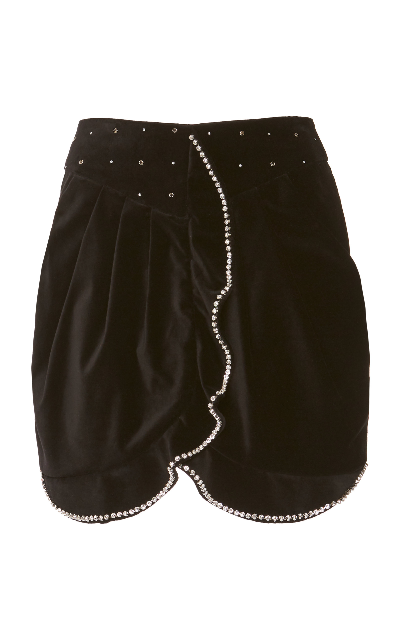Isabel Marant Shorts Queeny Embroidered Cotton-Blend Shorts