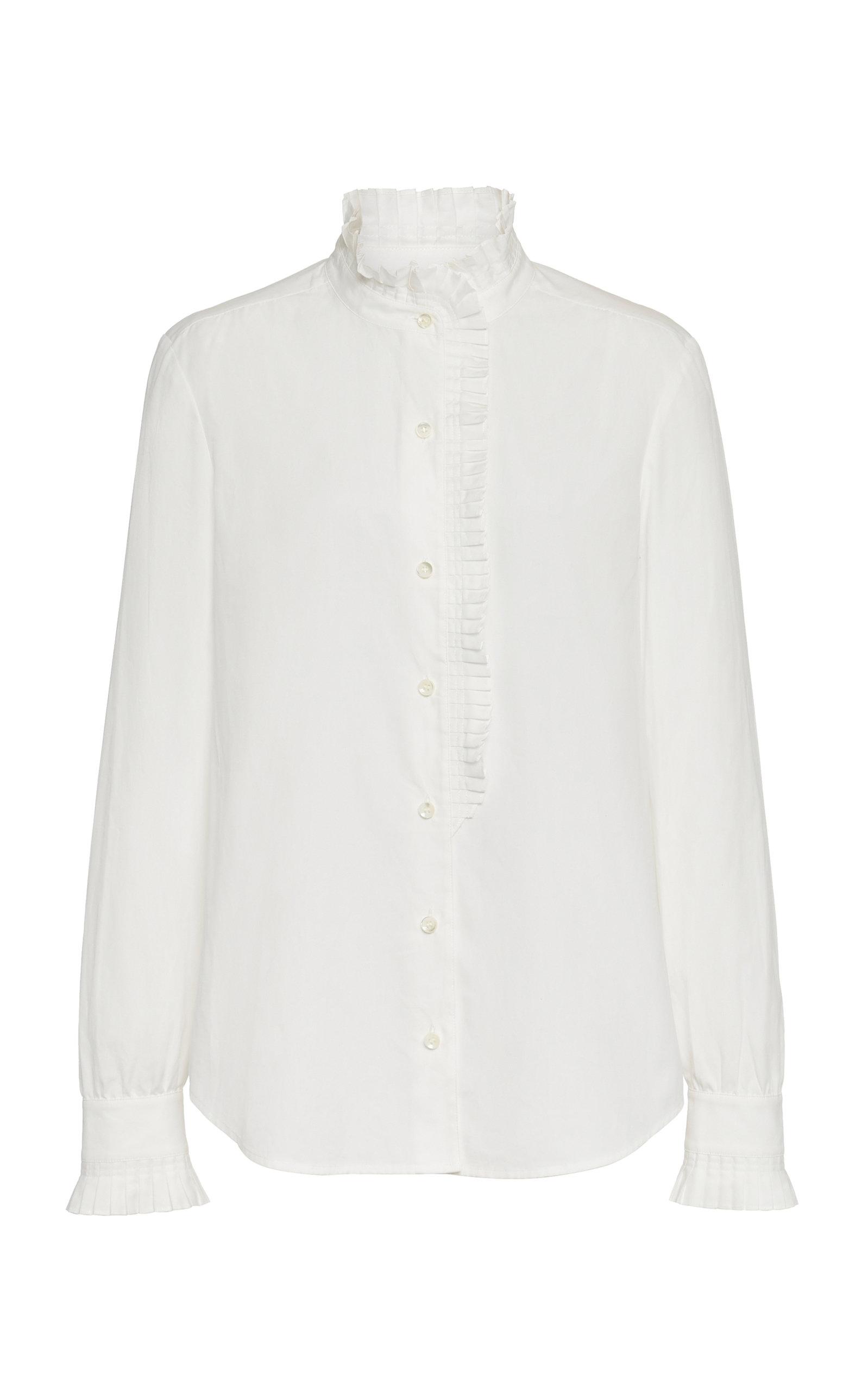 Frame T-shirts Pleated Cotton-Poplin Shirt