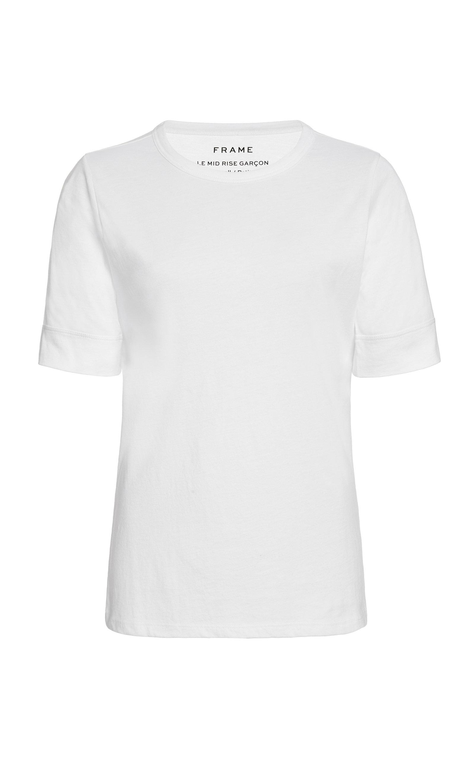 Frame T-shirts Le Mid-Rise Cotton-Jersey T-Shirt