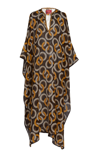F.r.s For Restless Sleepers GIGE CHAIN PRINTED COTTON BLEND MAXI DRESS