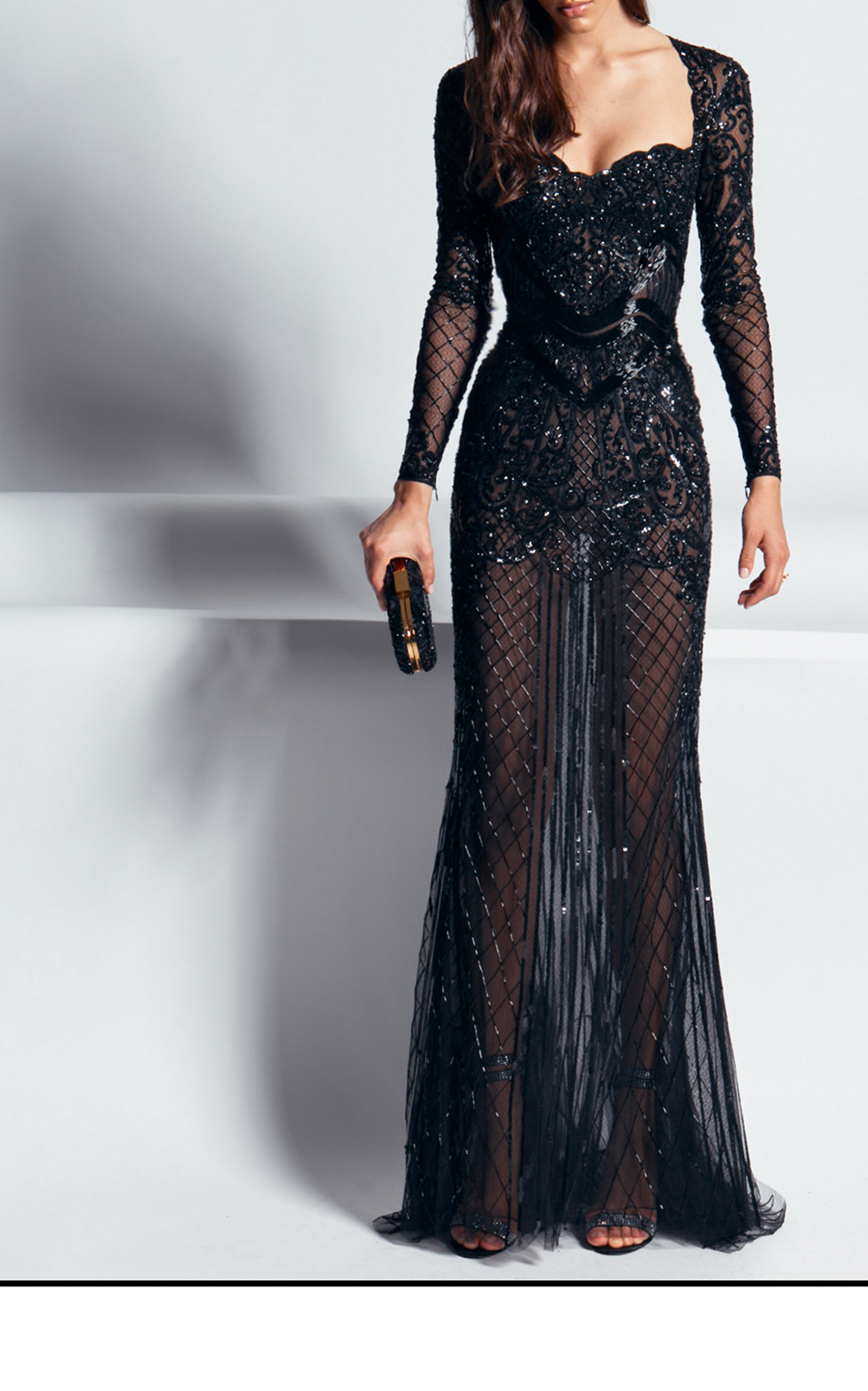 Alicante Embellished Lace Gown