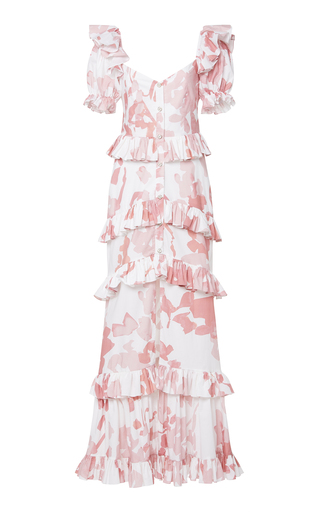 c98130e1 You Can Hold Your Own Dress Printed Silk-Crepe Dress by Maggie Marilyn |  Moda Operandi