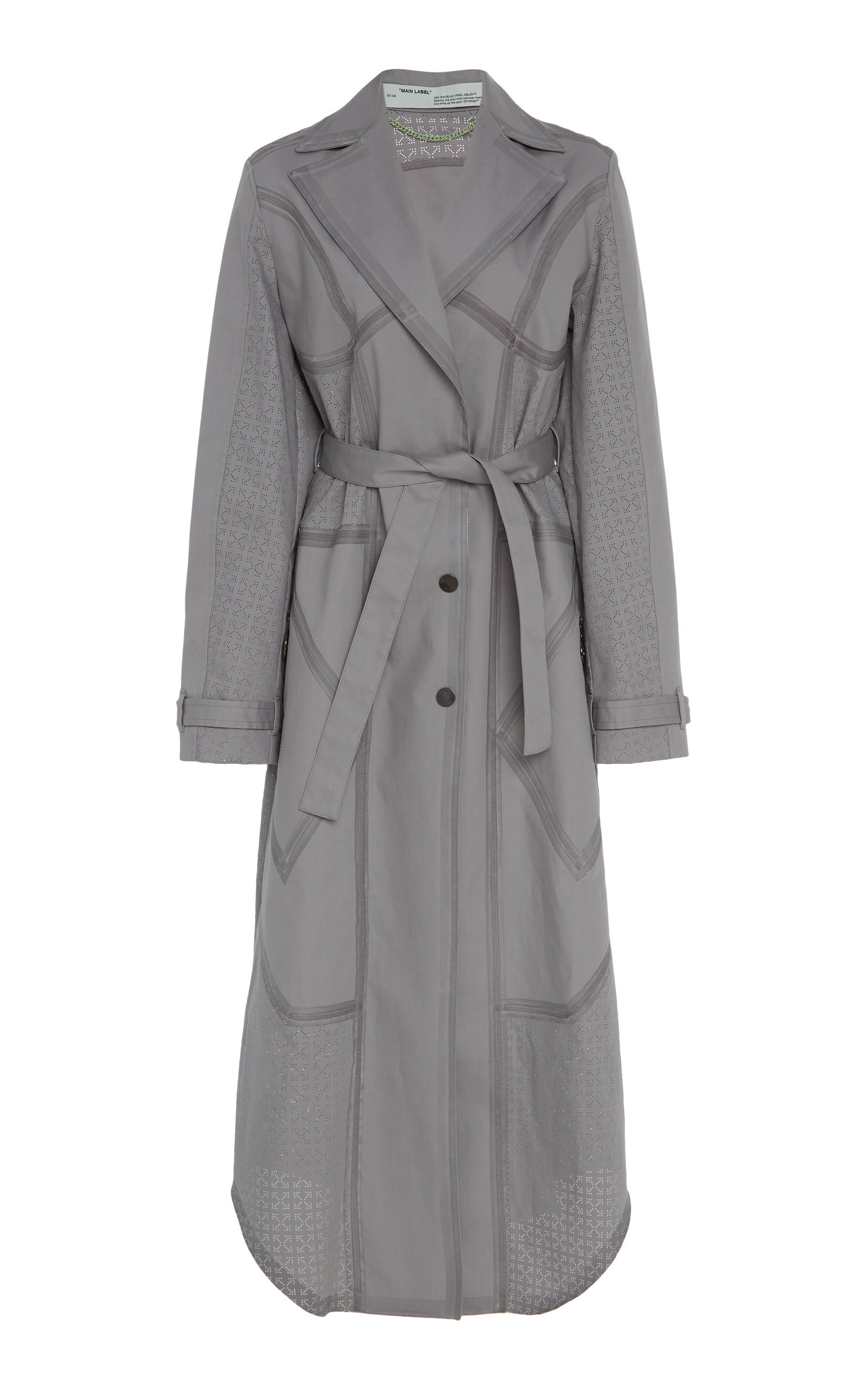 Off-White Coats MUTI DETAILS BELTED TRENCH COAT