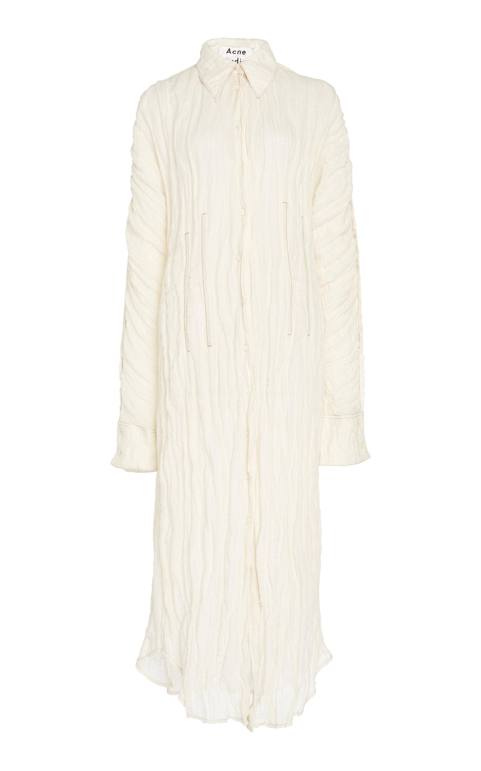 Acne Studios Dress Danete Crinkled Guaze Shirtdress