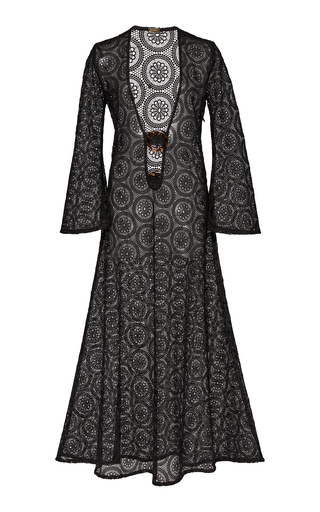 DODO BAR OR JANE SHEER LACE V-NECK MAXI DRESS