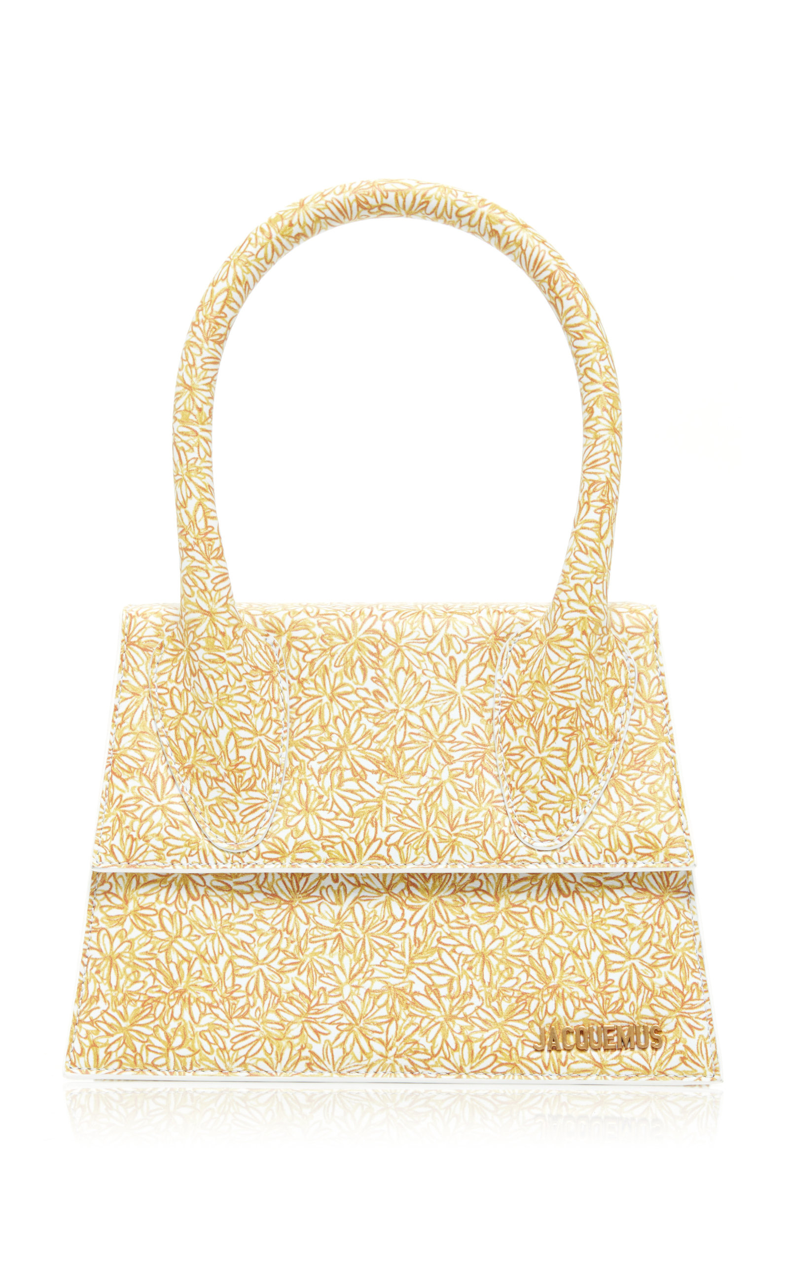 Le Grand Chiquito Floral Print Leather Bag by Jacquemus