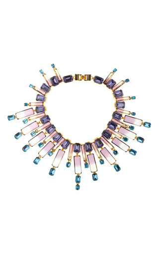 Oceana Crystal Collar Necklace by HOUSE OF LAVANDE for Preorder on Moda Operandi