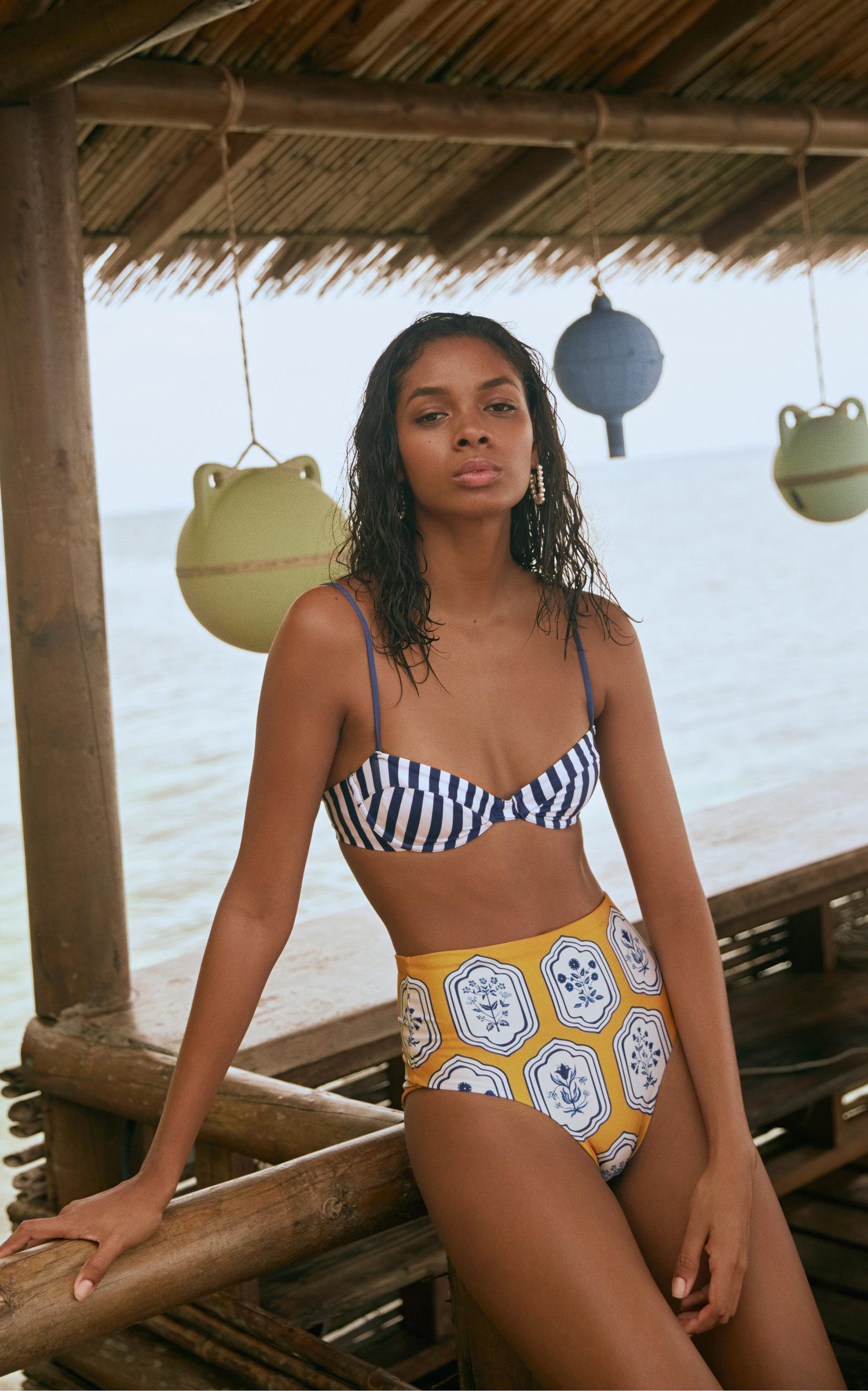 ccfd3df0afd2 Magdalena Striped Bikini Top