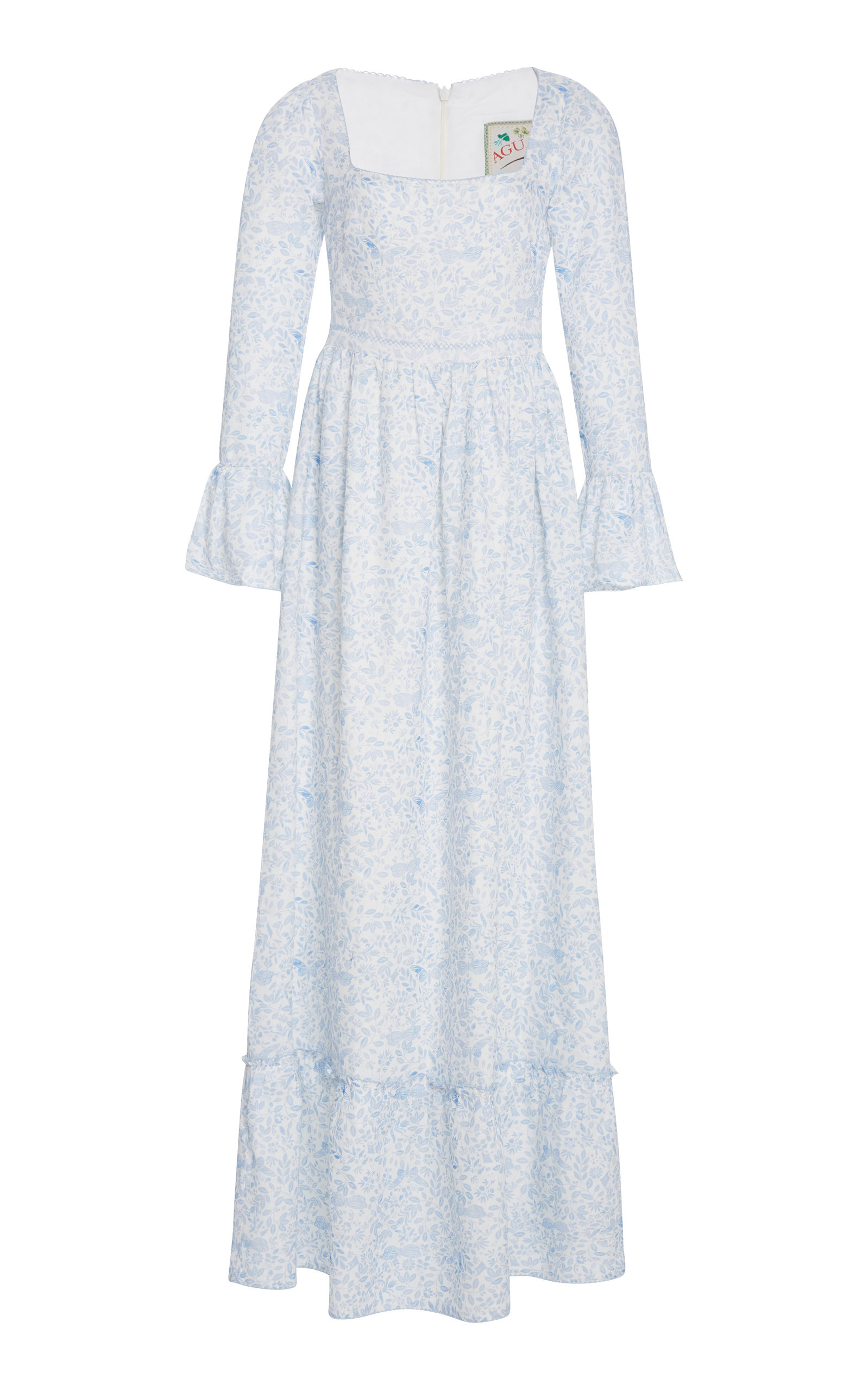 Curuba Printed Linen Maxi Dress by Agua By Agua Bendita