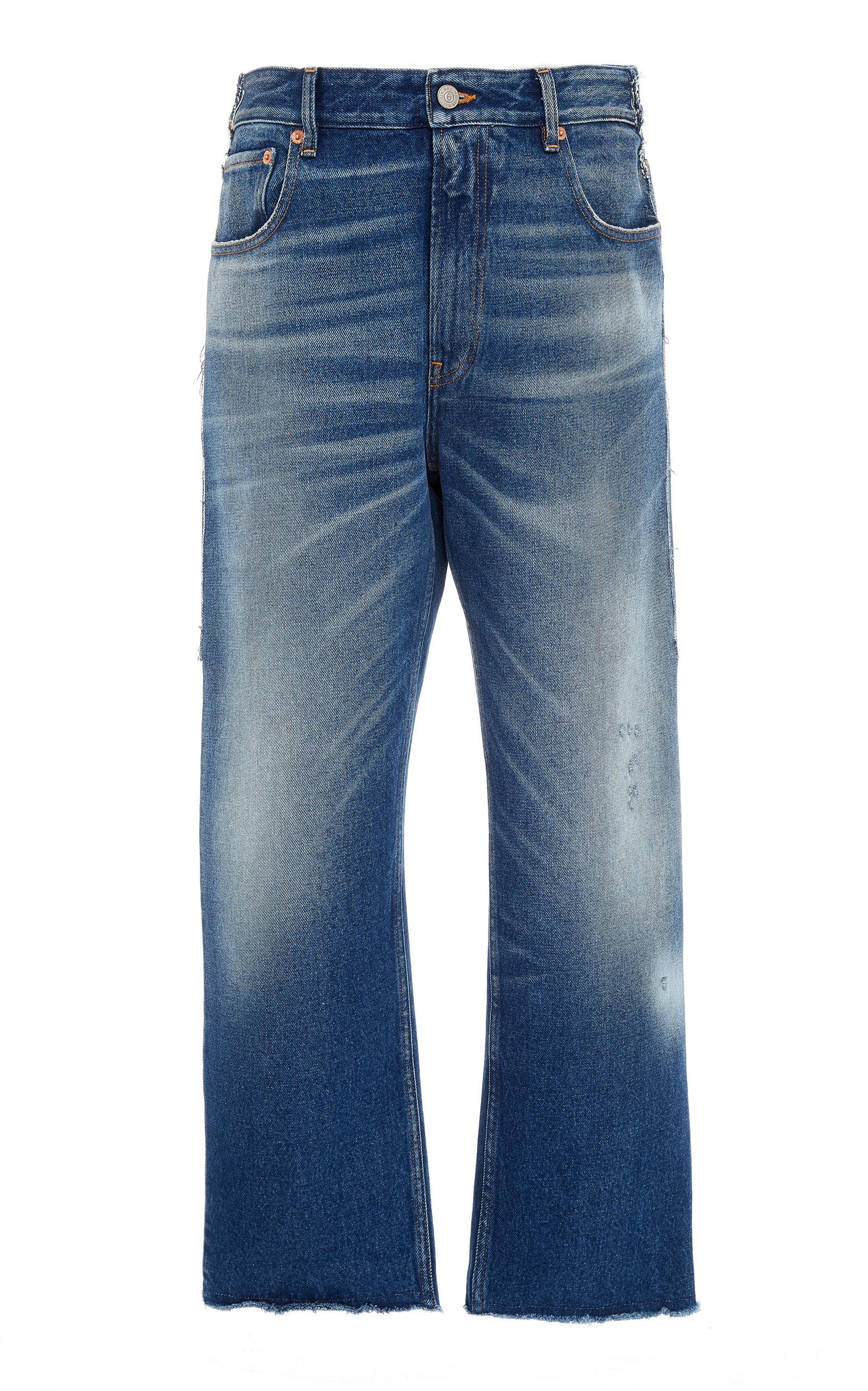 Diy Patchwork Rigid High Rise Cropped Boyfriend Jeans