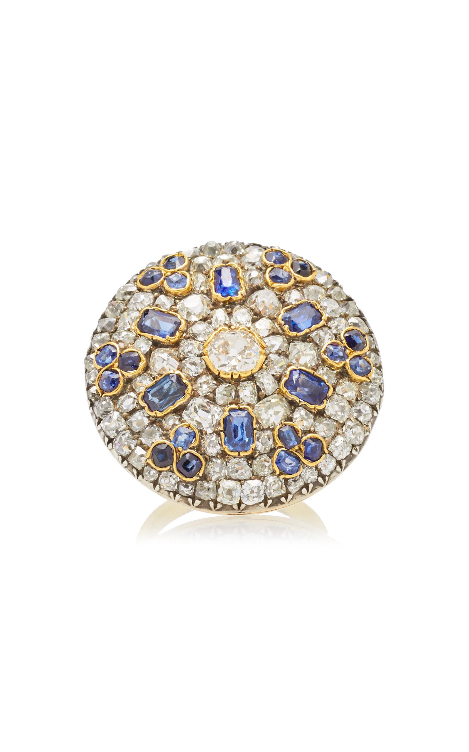 229f6618643ec Diamond Sapphire Old Cut Ring