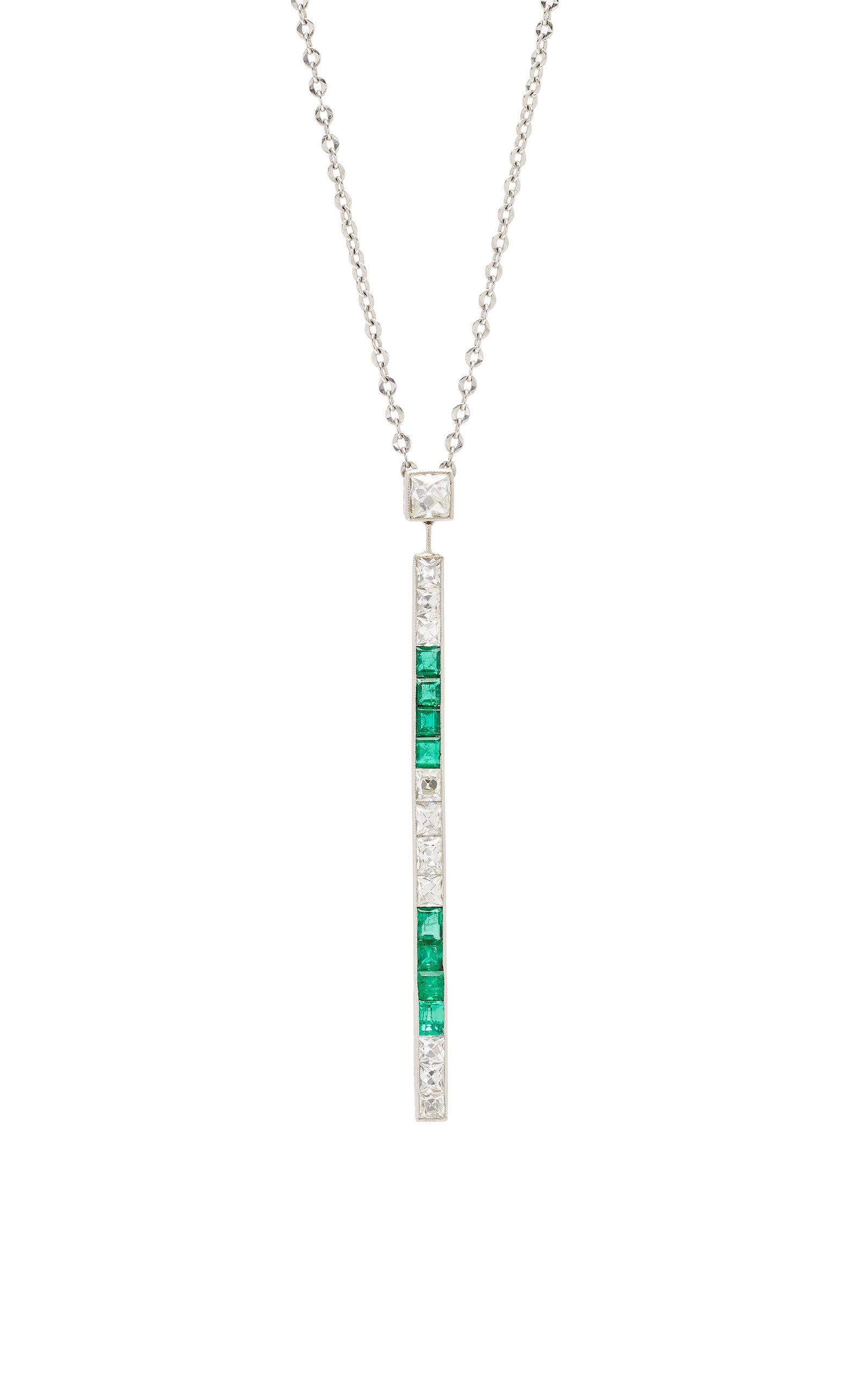 401715b8ac977 Vintage Art Deco Tiffany & Co. Diamond Bar Pendant