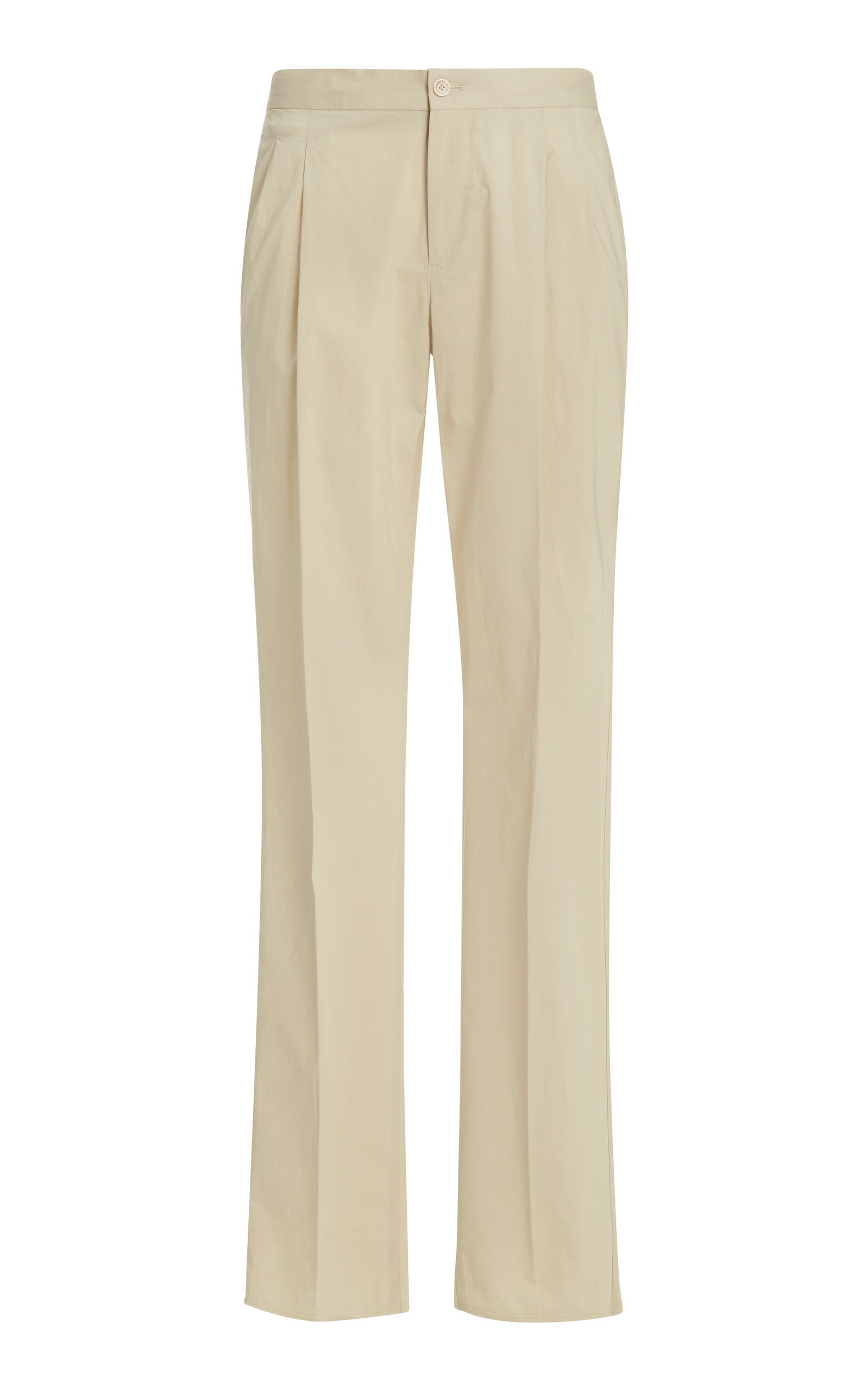 Pt01 Sonny Pleated Stretch-cotton Pants In Neutral