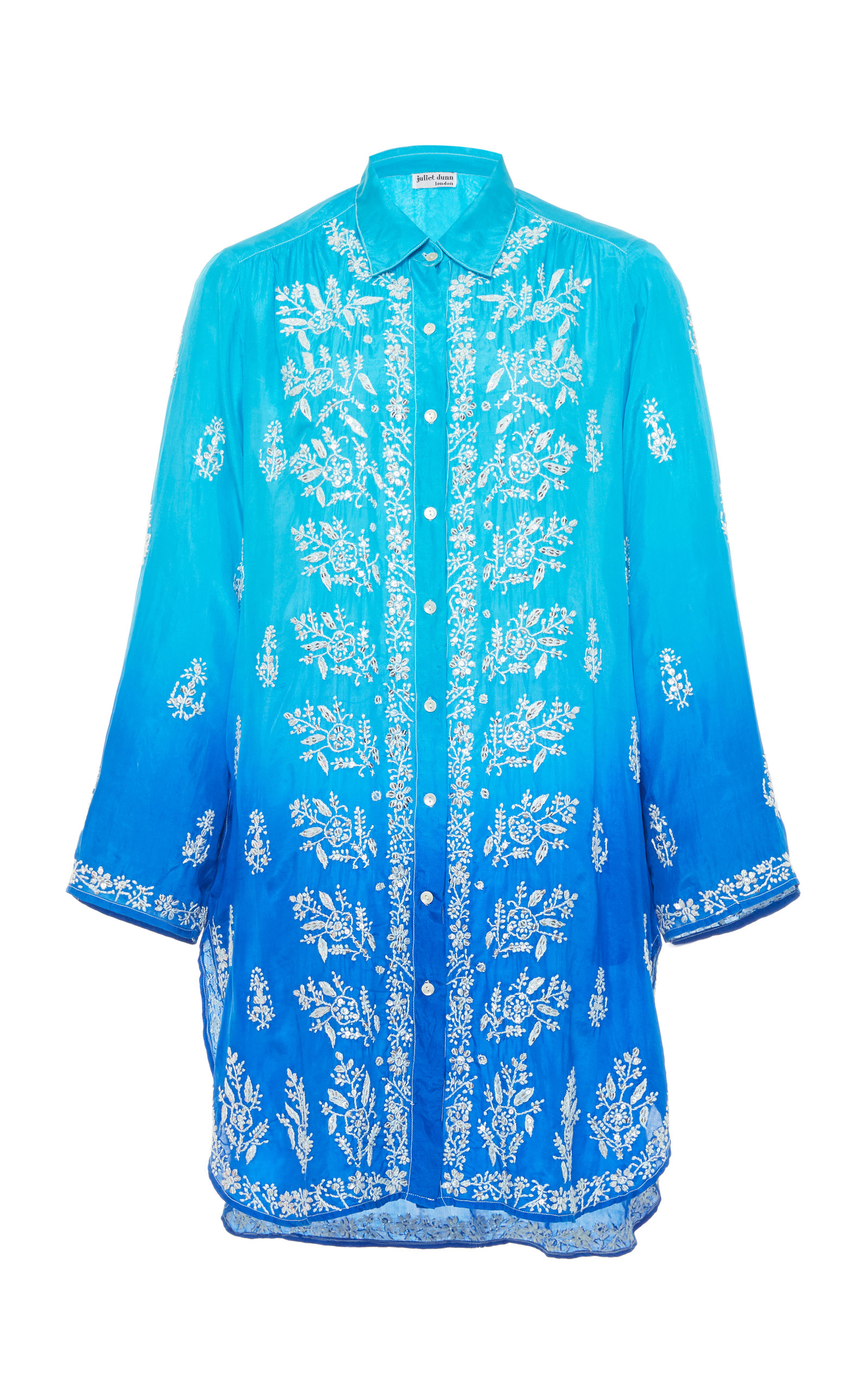 907c43156b Ombre Embroidered Silk Shirt