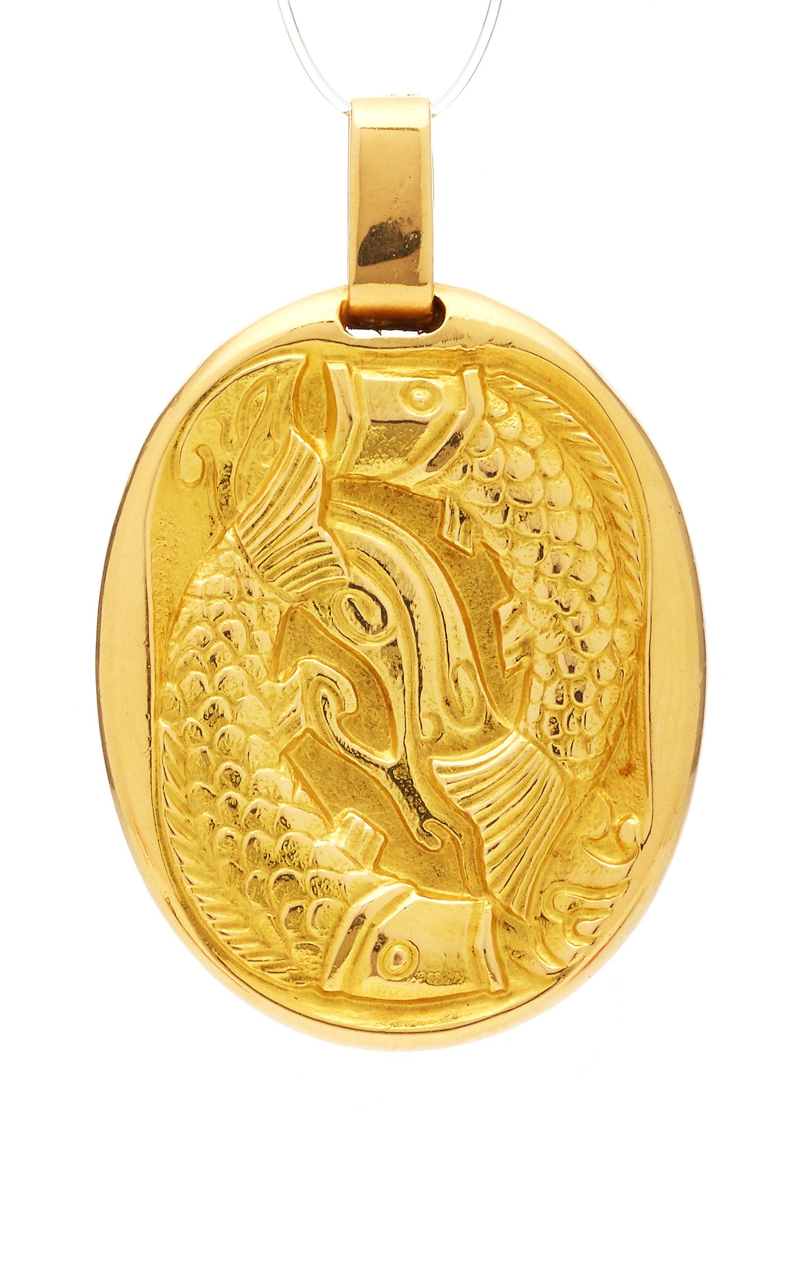 Vintage 18K Gold Cartier Pisces Zodiac Pendant