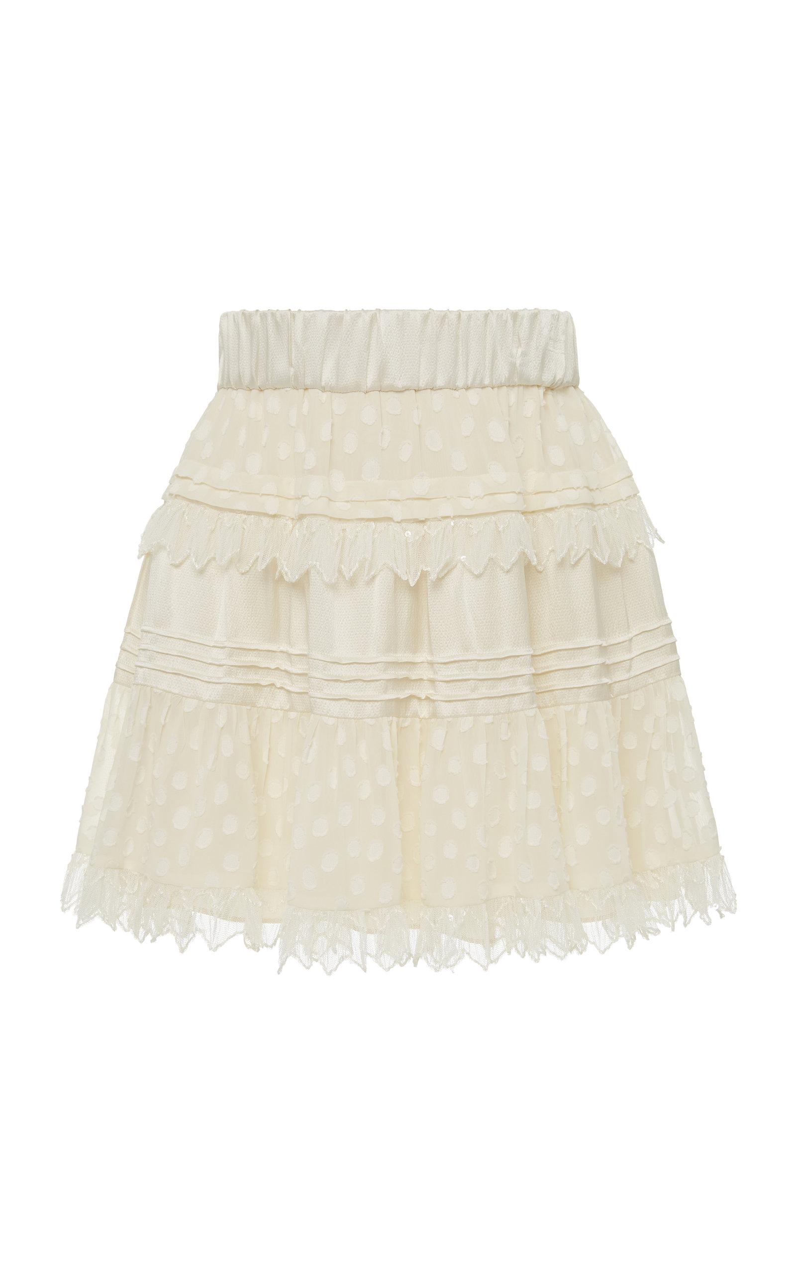 Yakira Cotton Ruffle Mini Skirt by Alexis