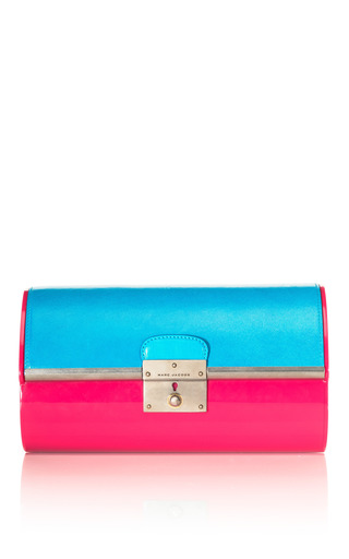 Medium marc jacobs turquoise color block plexy clutch 3