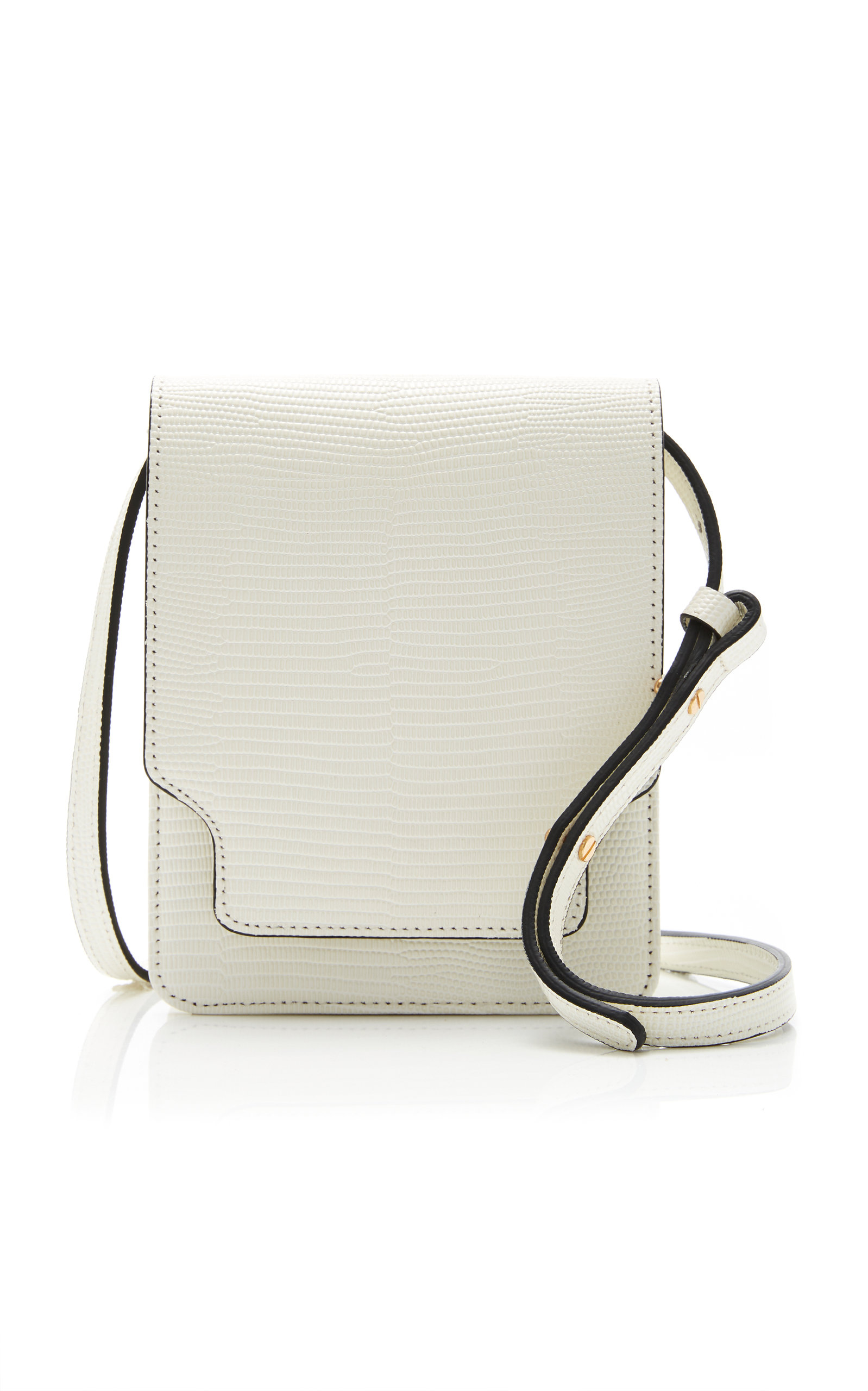 online retailer super cute highly coveted range of Pump Classic Lizard-Effect Leather Crossbody Bag