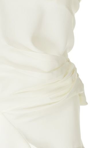 A.w.a.k.e. One-shoulder Asymmetric Cady Top In Off-white