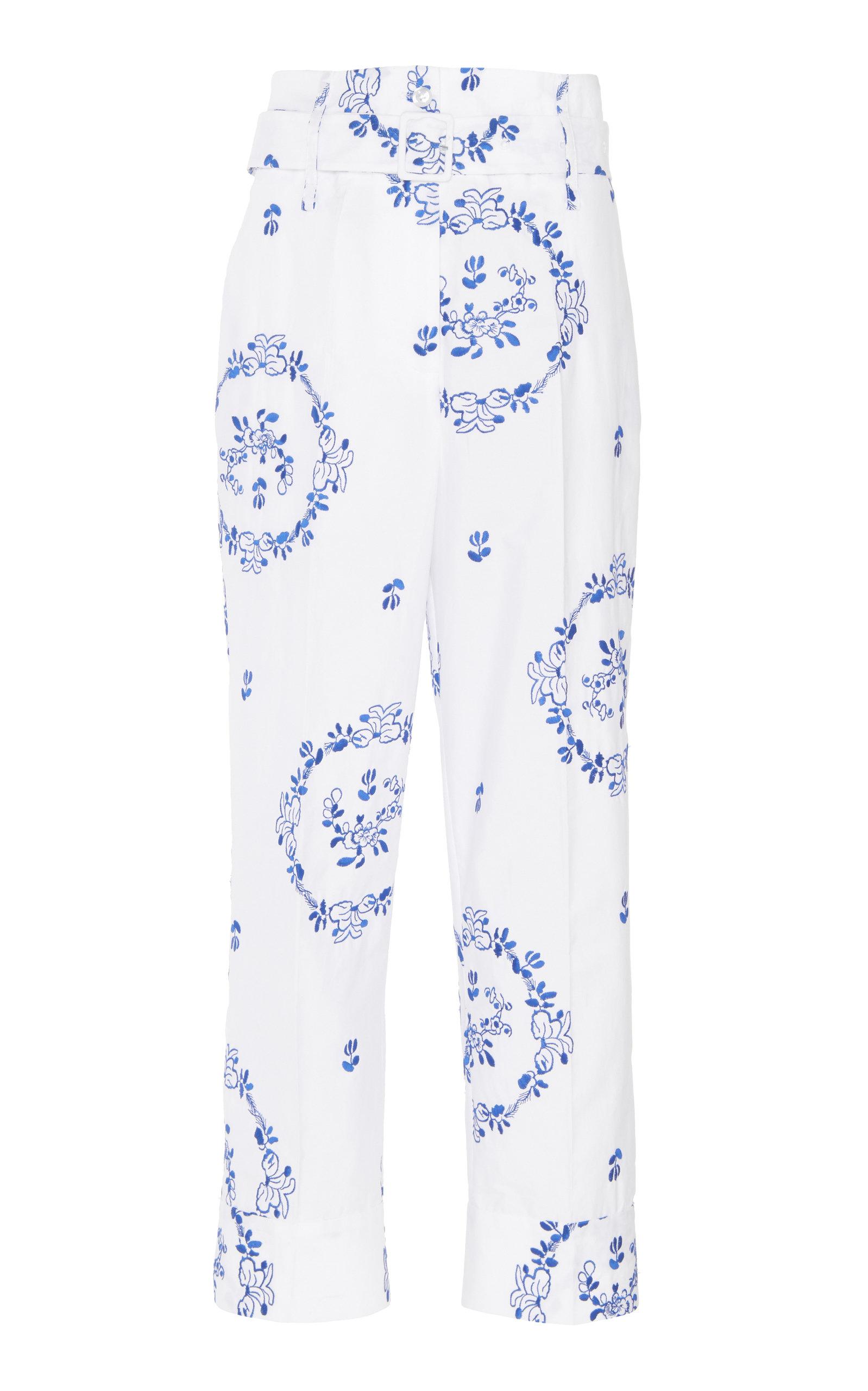 Simone Rocha Pants PRINTED HIGH-RISE STRETCH-COTTON PANTS