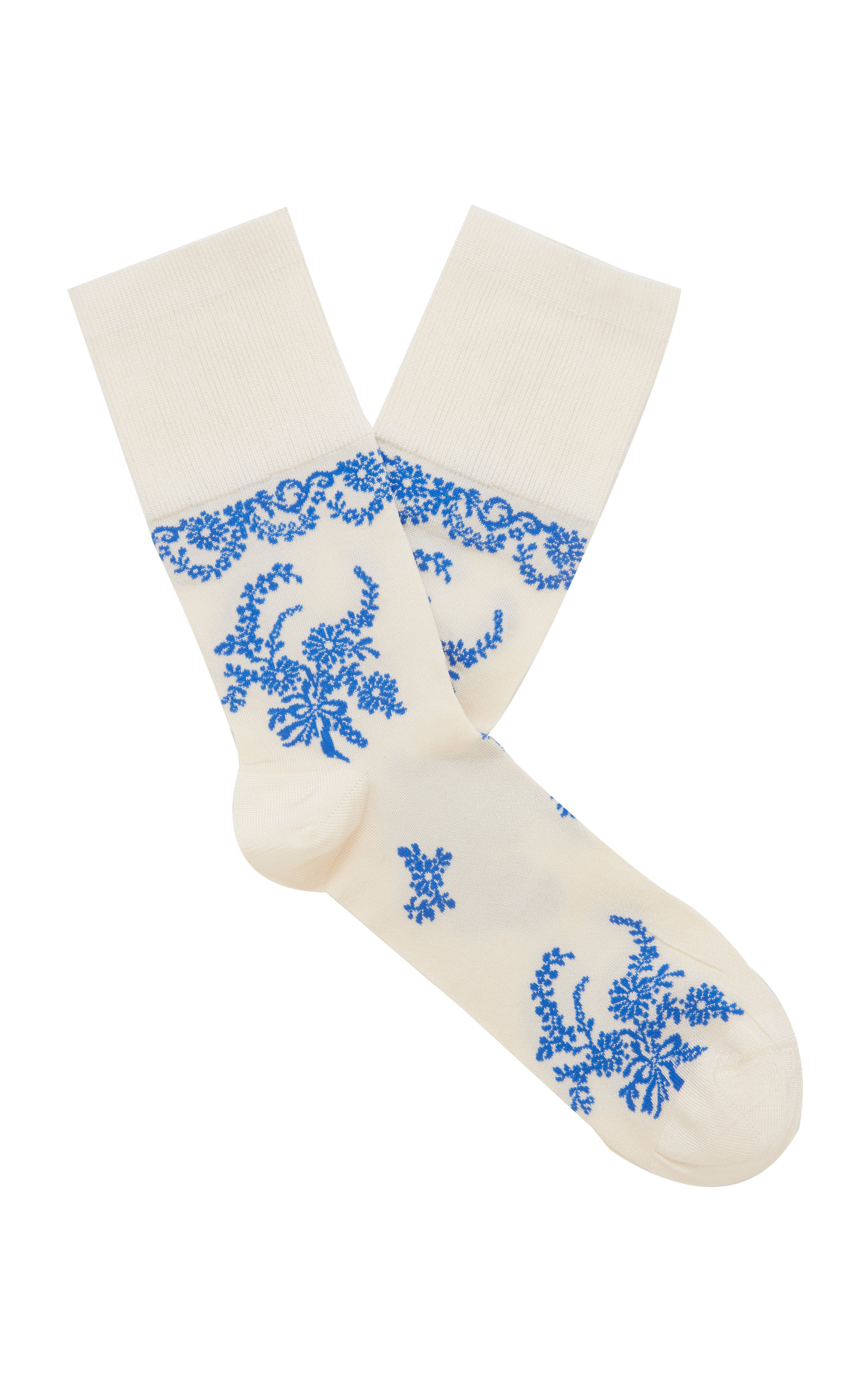 Simone Rocha Hosieries LACE-ACCENTED ANKLE SOCKS