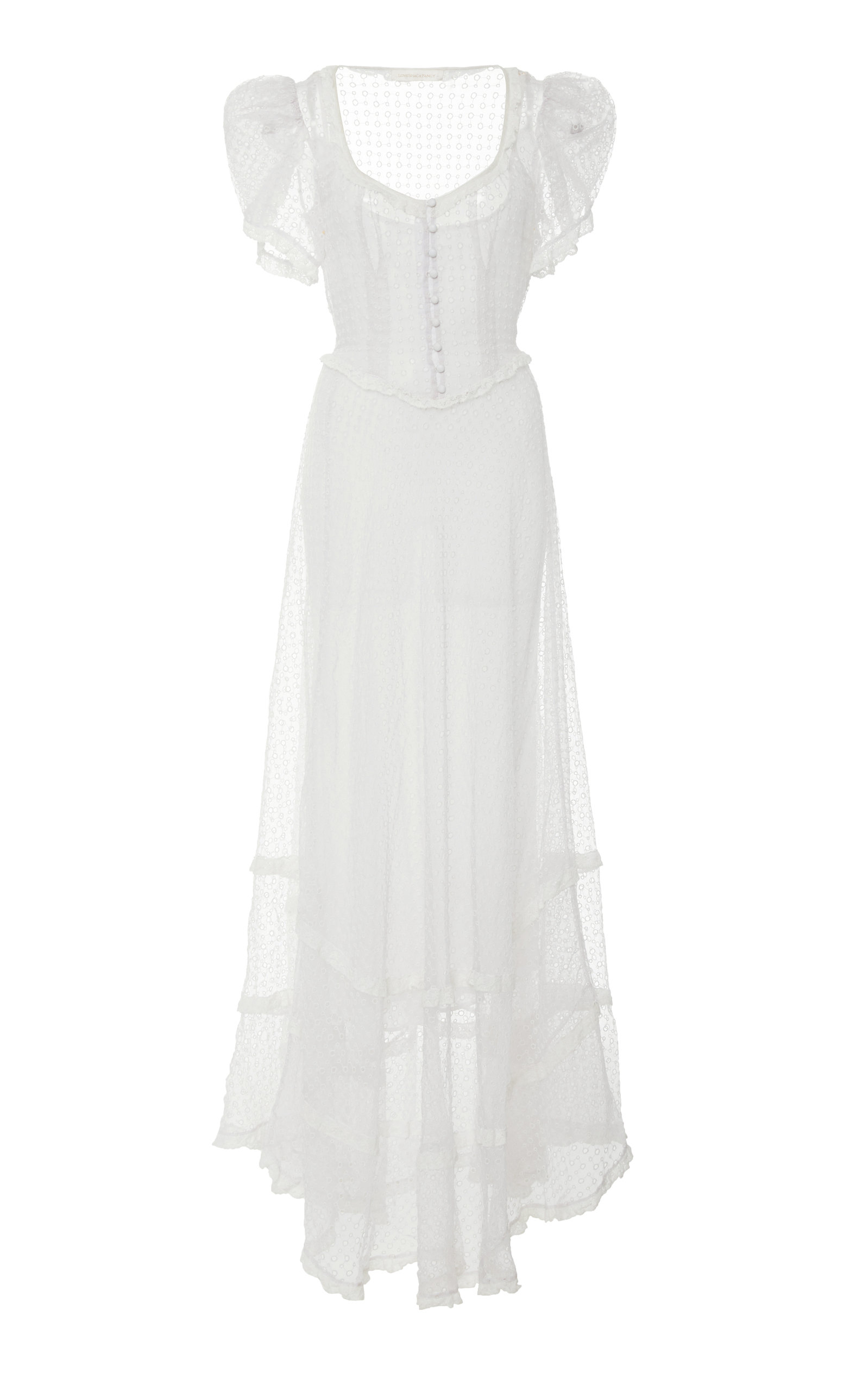 Odessa Eyelet Silk Maxi Dress by Love Shack Fancy