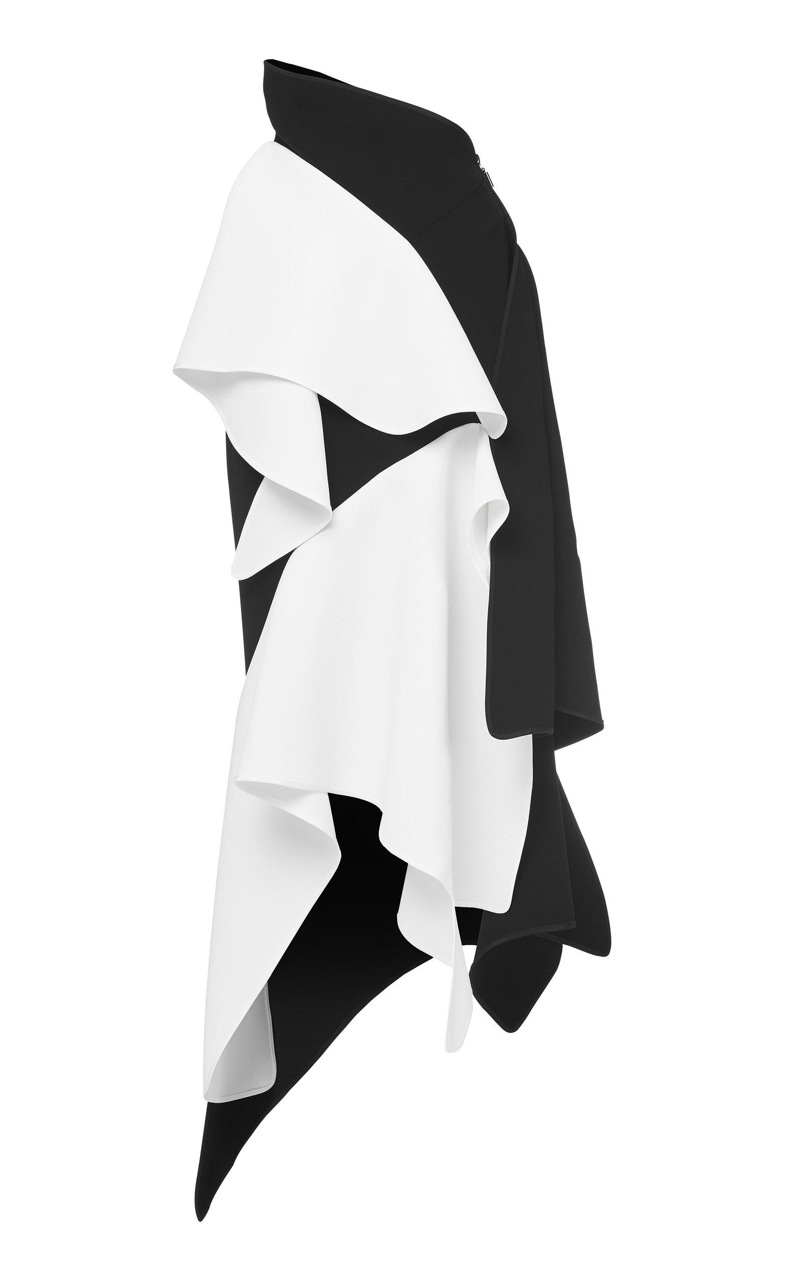 reverent-two-tone-crepe-skirt by maticevski