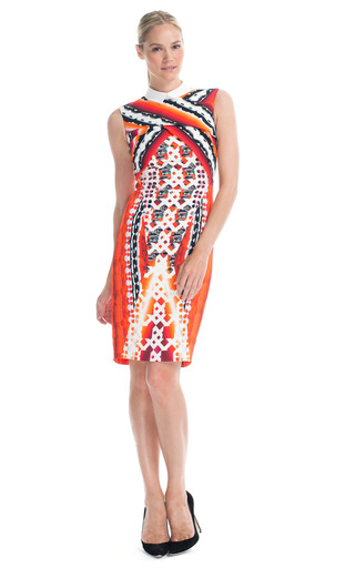 Medium peter pilotto red lace red x dress 2