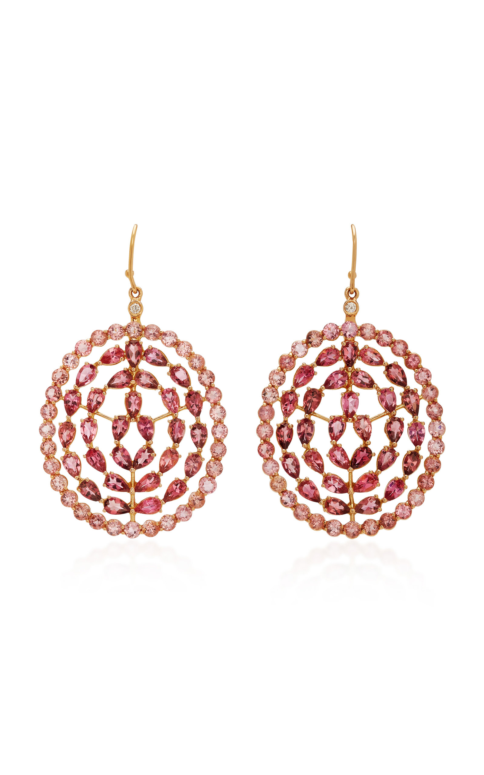 Misahara Plima Prime 18k Rose Gold And Tourmaline Earrings In Pink