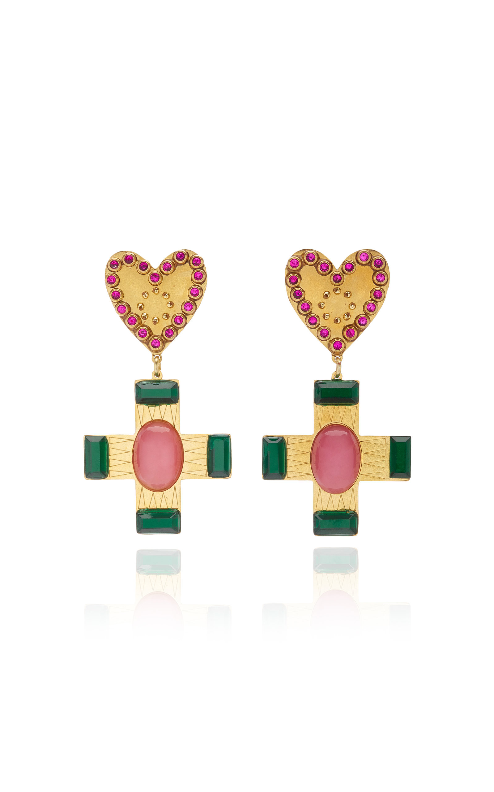 Mercedes Salazar ITALIAN HEART EARRINGS