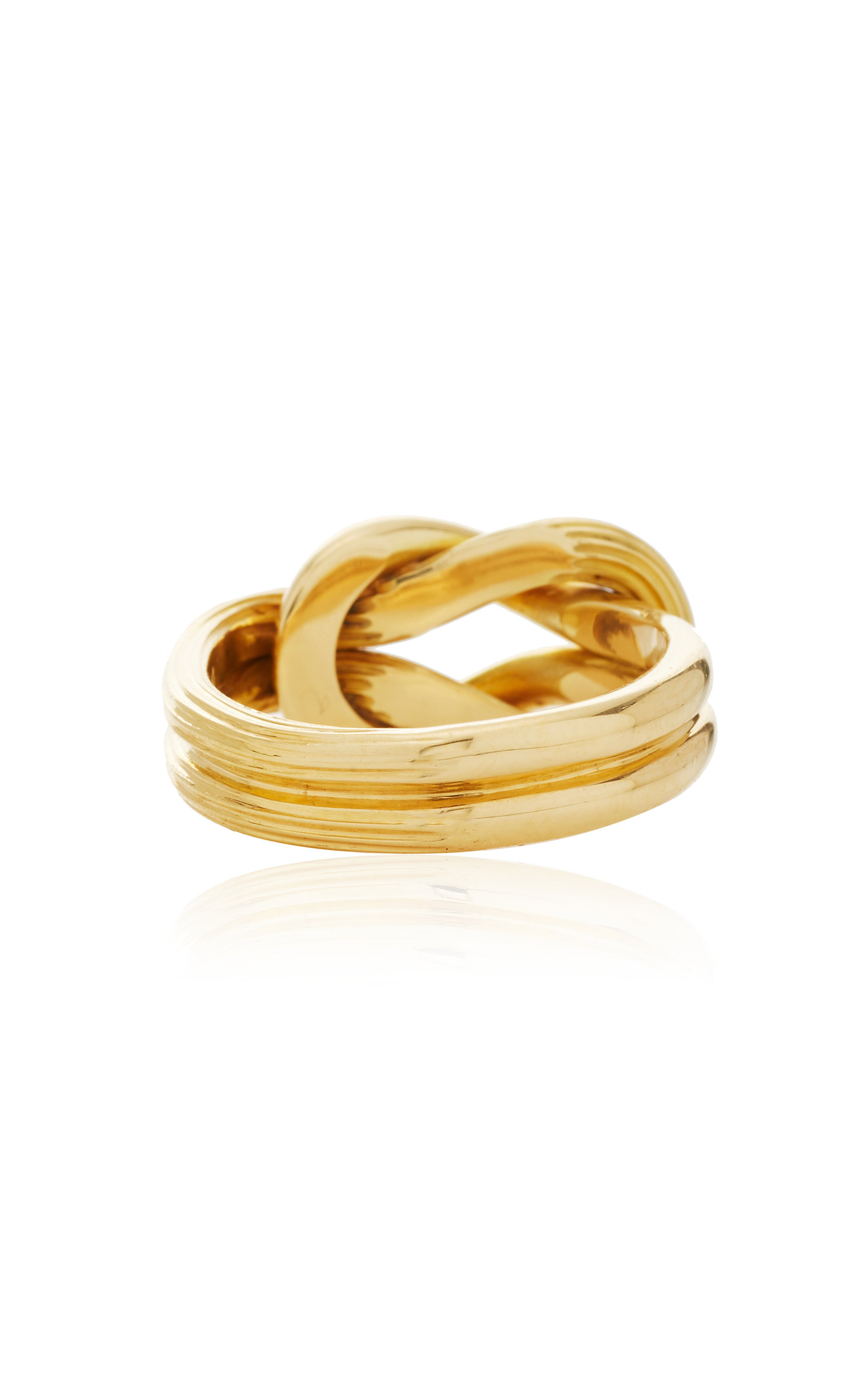 18k Yellow Gold Hercules Knot Ring By Lalaounis Moda Operandi