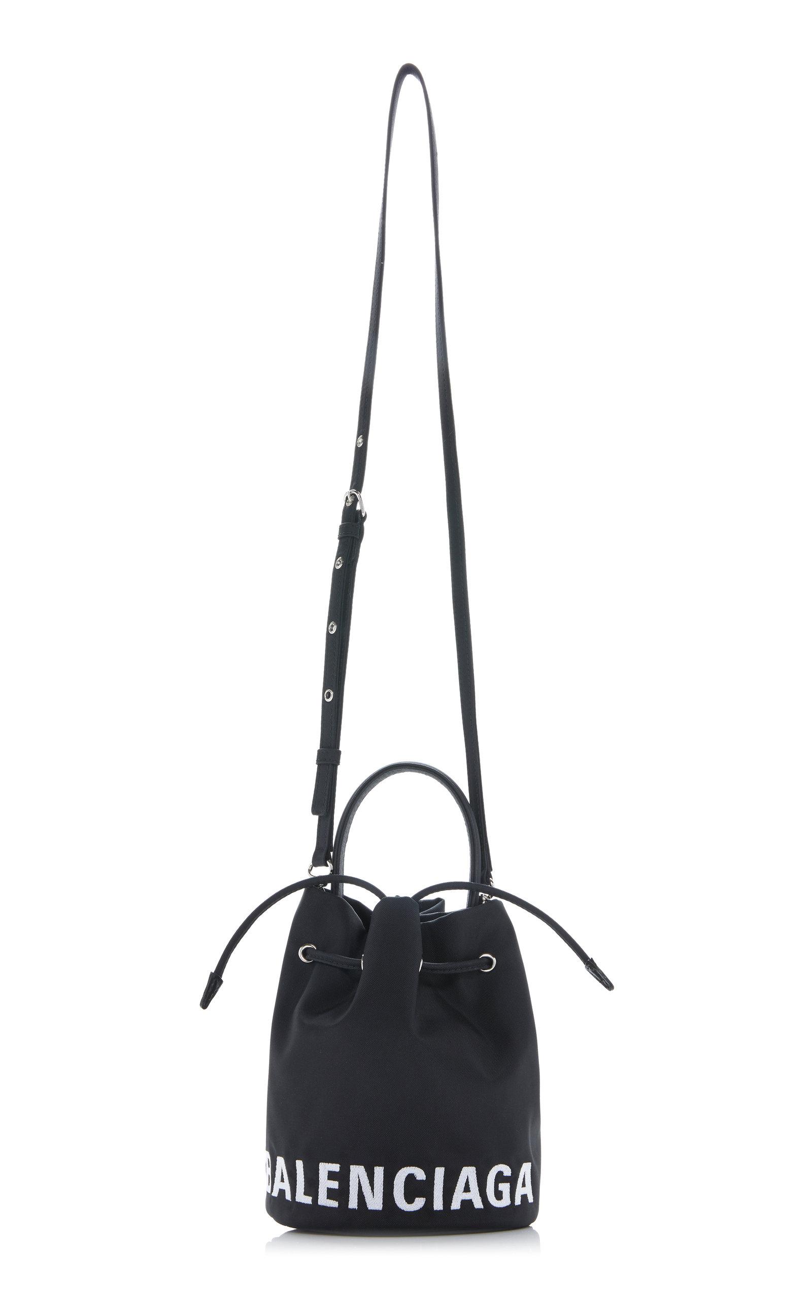 Wheel Xs Drawstring Leather Bag By Balenciaga Moda Operandi
