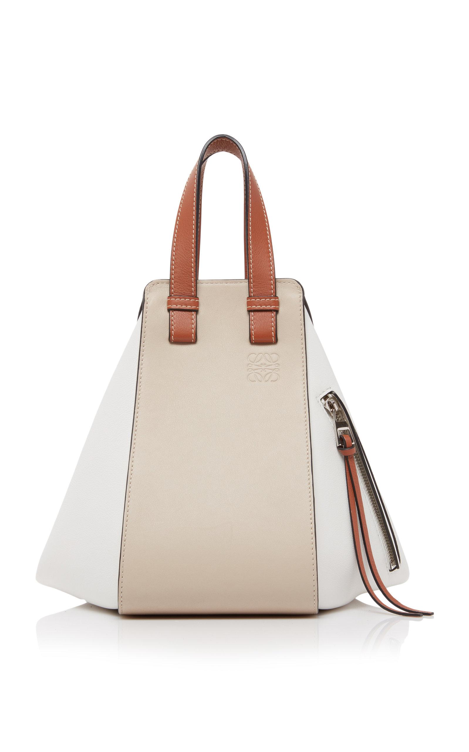 Loewe Small Hammock Color-block Leather Bag In Ivory Multi