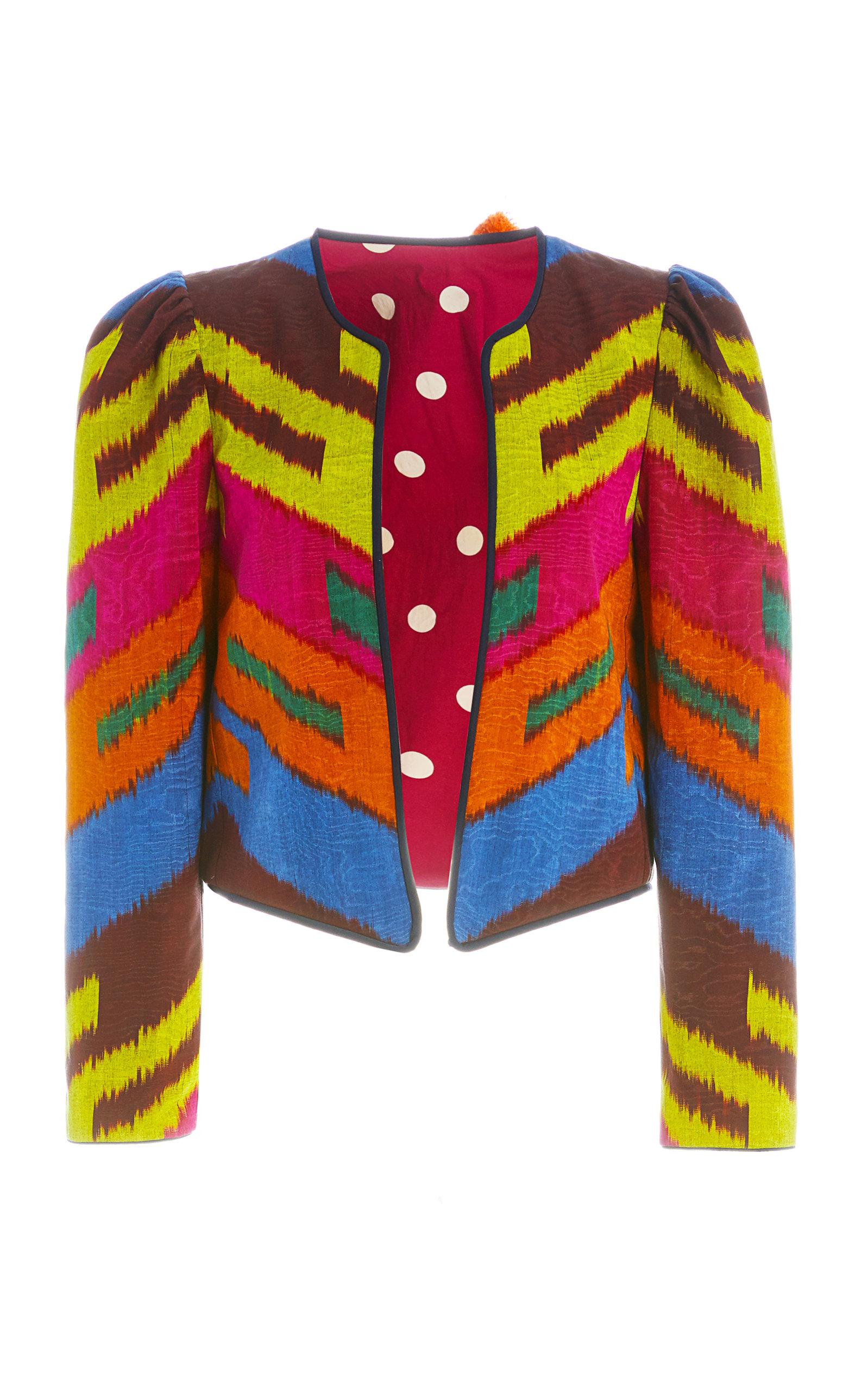 Alix Of Bohemia Josephine Chevron Ikat Jacket In Multi
