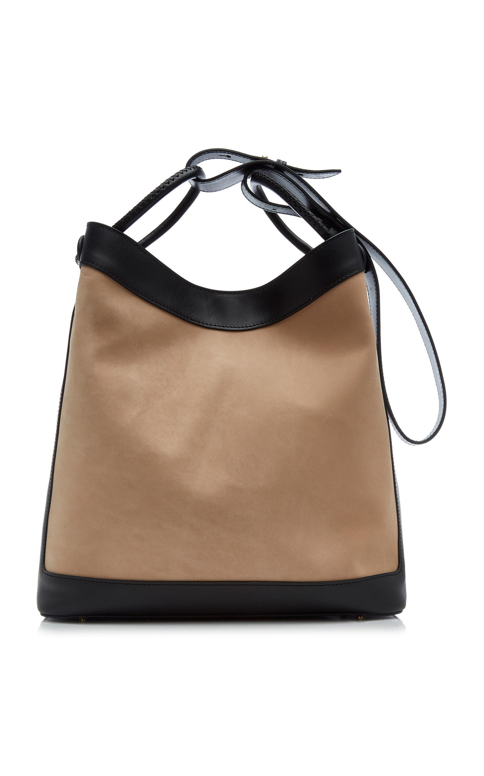 Elleme Vosges Leather Shoulder Bag In Brown