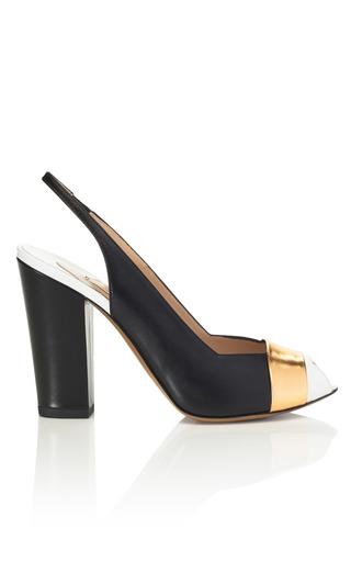 Medium nicholas kirkwood white peep toe block heel pump