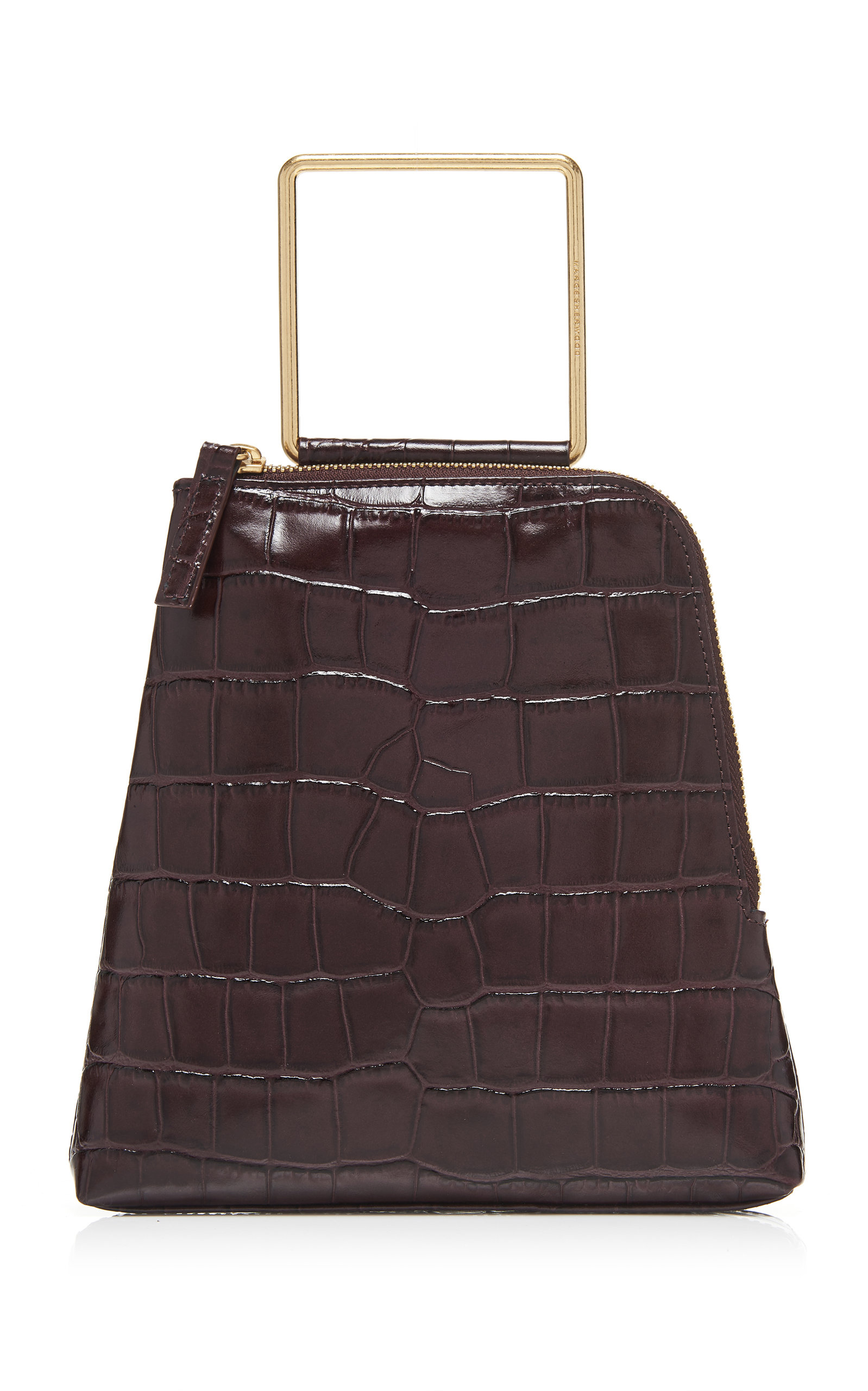 Marge Sherwood Breeze Croc-effect Leather Top Handle Bag In Burgundy