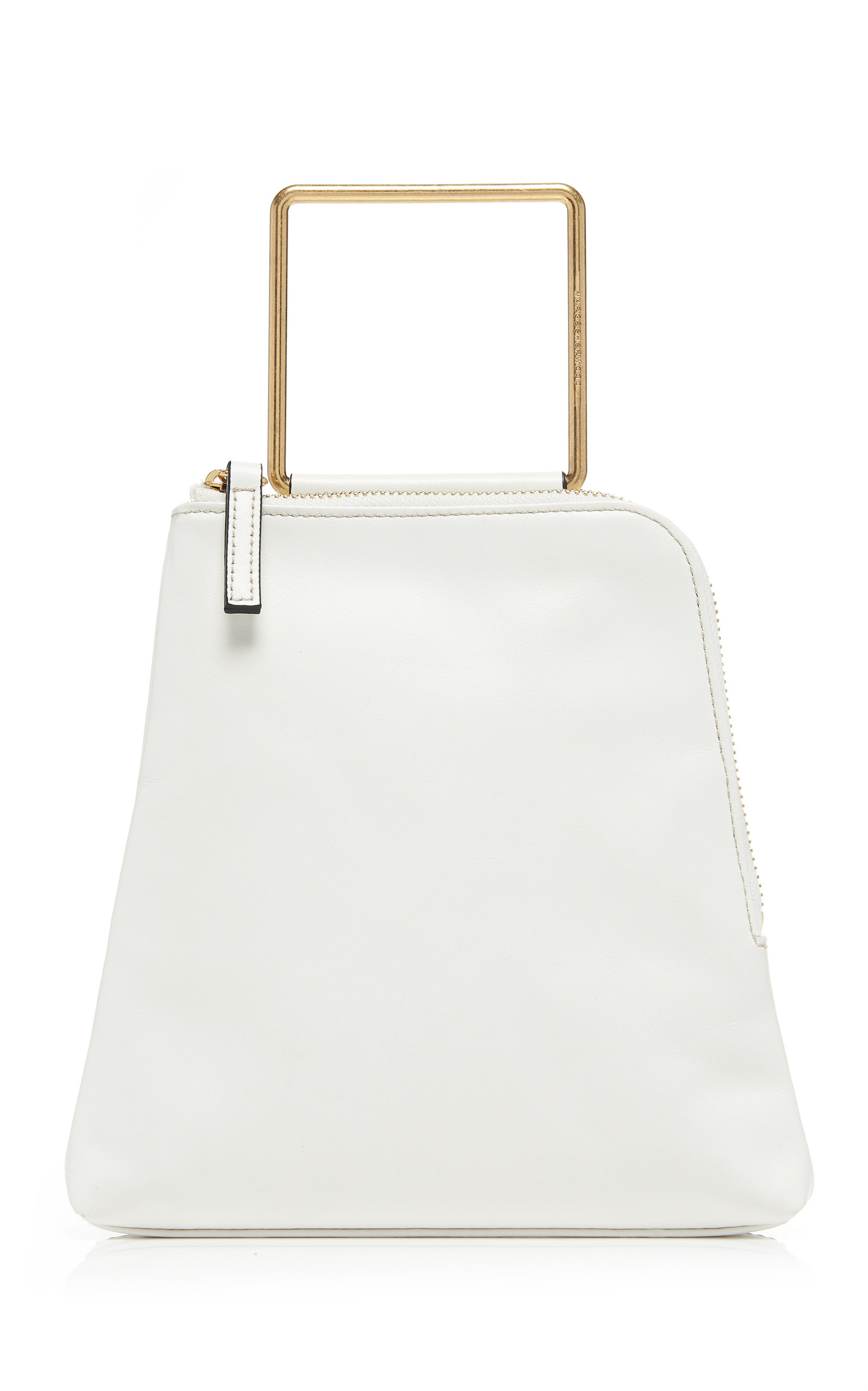 Marge Sherwood Breeze Leather Top Handle Bag In White