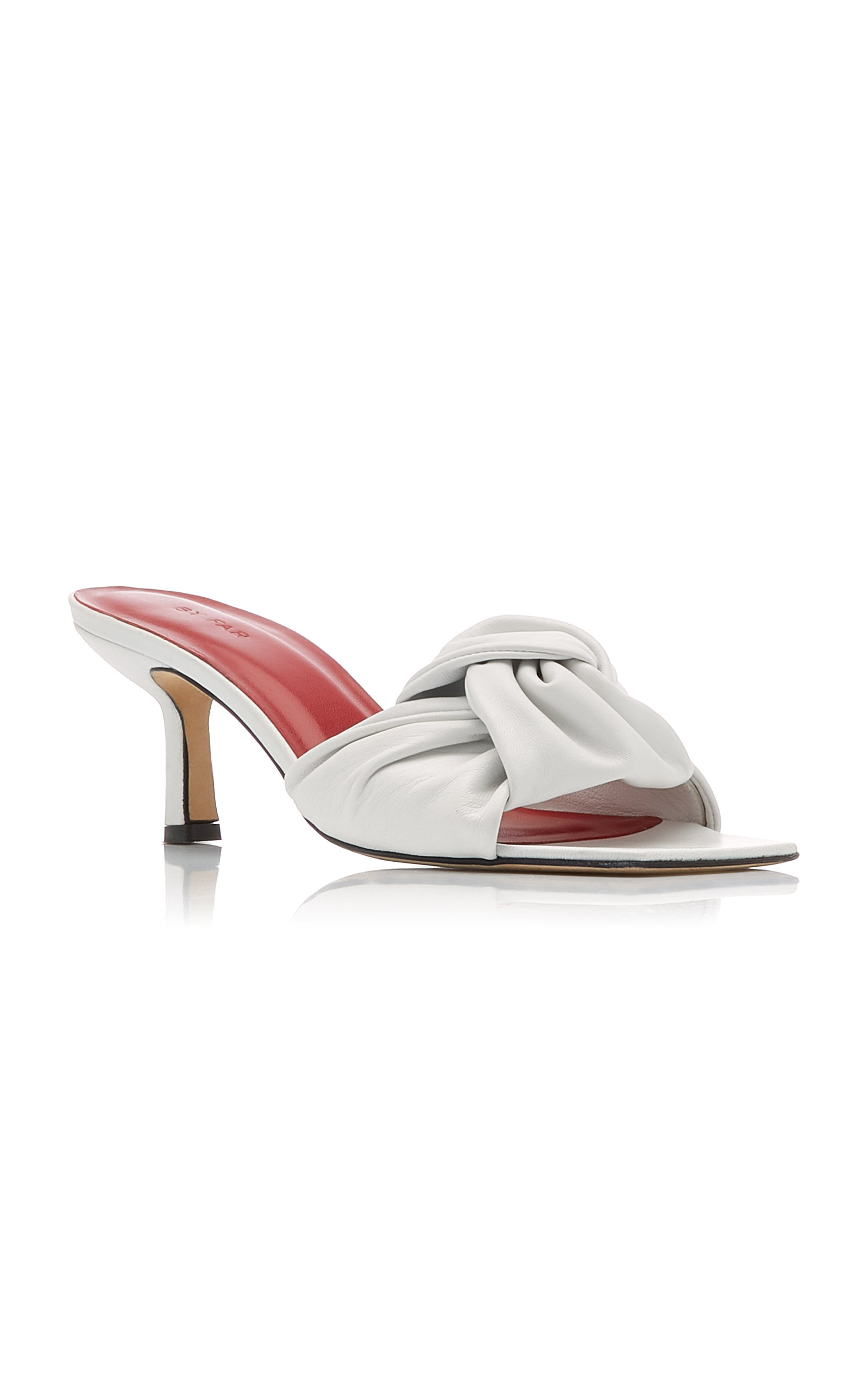 BY FAR Leathers LANA LEATHER SANDALS
